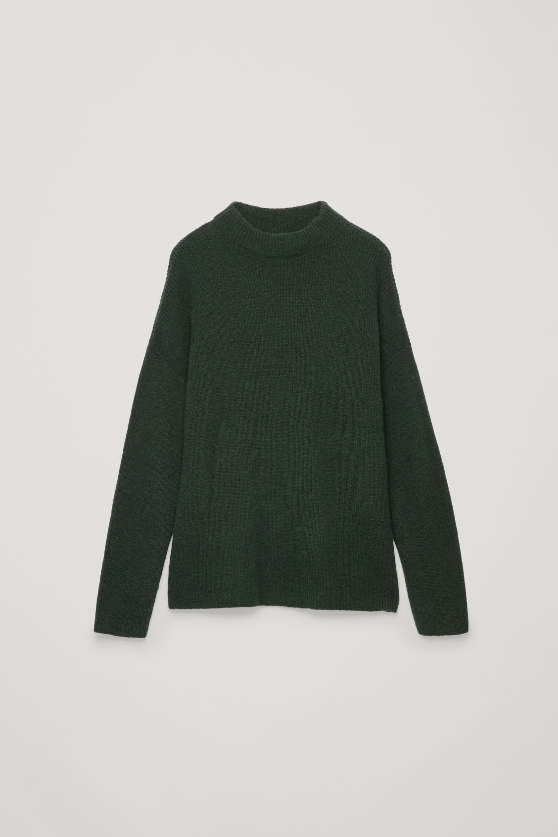 Front image of Cos oversized rib-knit jumper in green