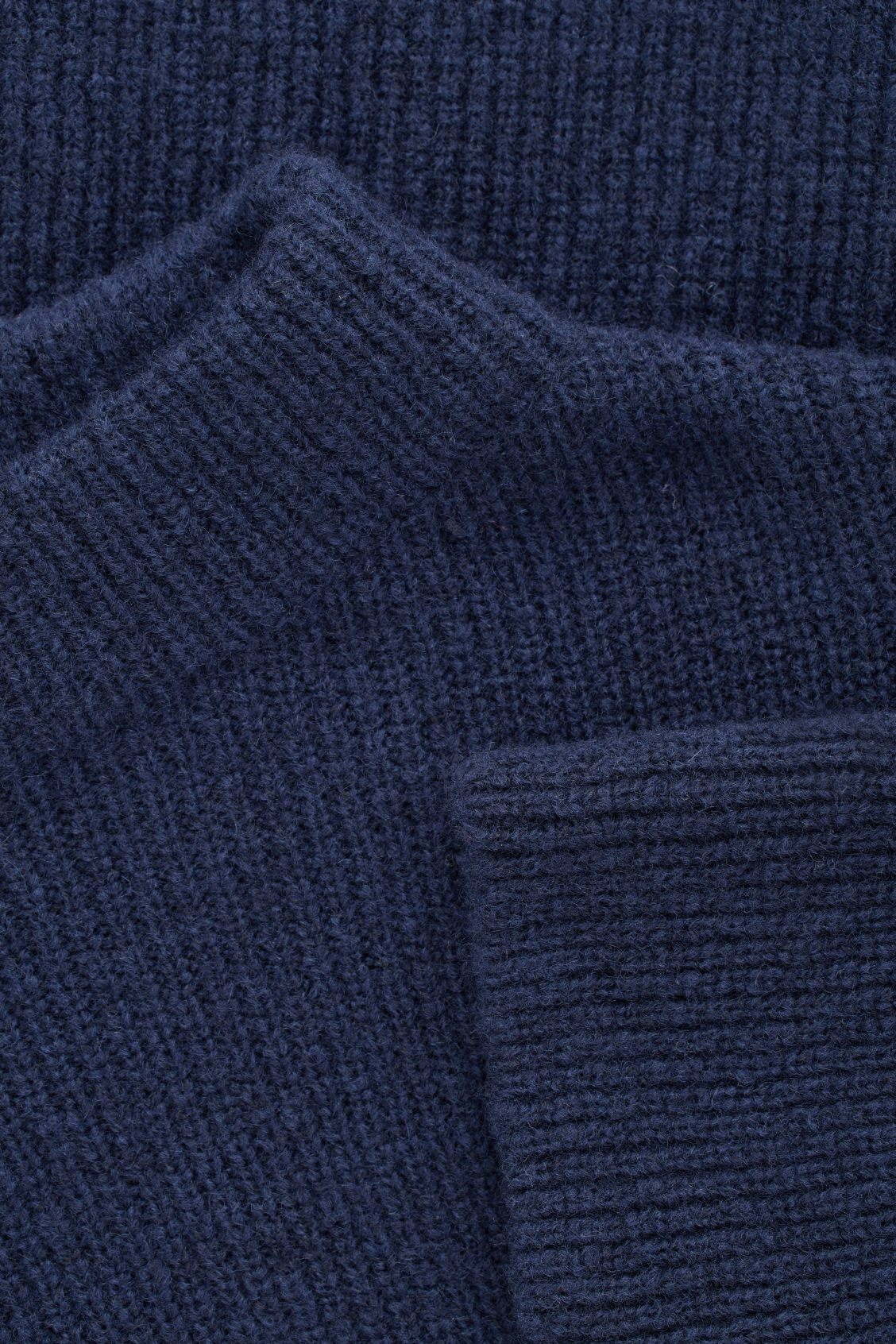 Side image of Cos oversized knit jumper in blue
