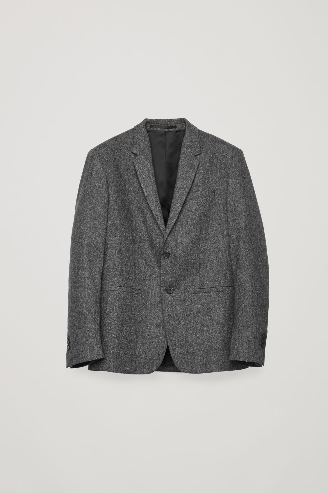Front image of Cos wool melange blazer in grey