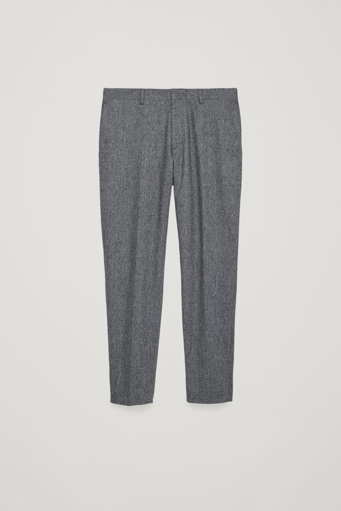 Front image of Cos wool melange trousers in grey