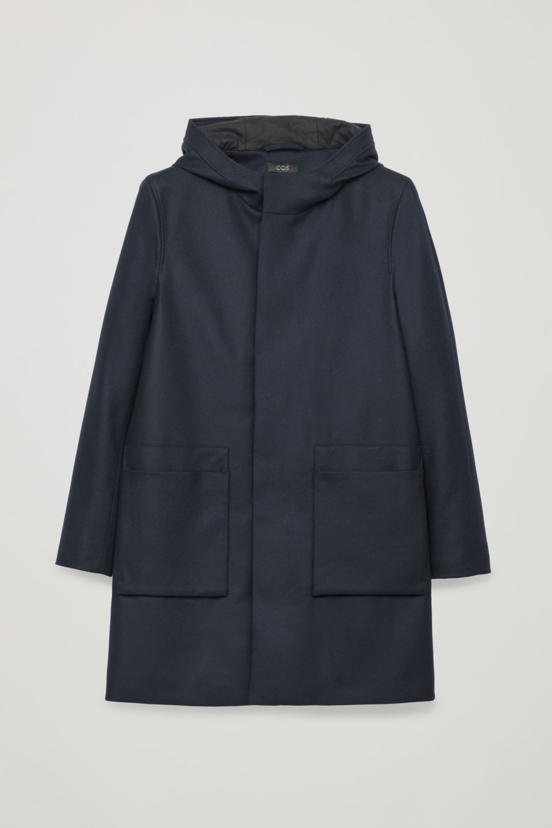 Front image of Cos wool anorak in blue