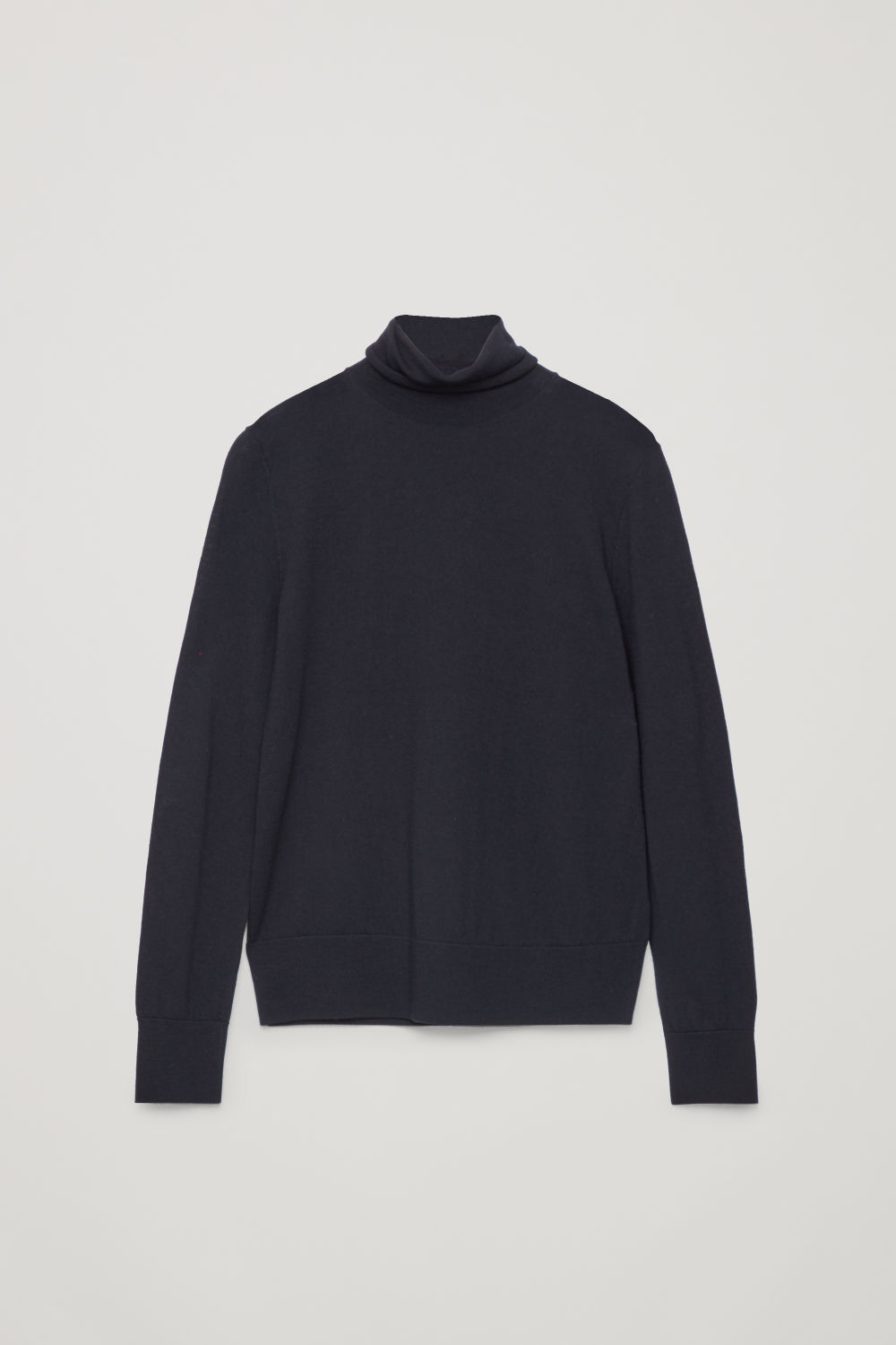 Front image of Cos roll-neck merino jumper in blue