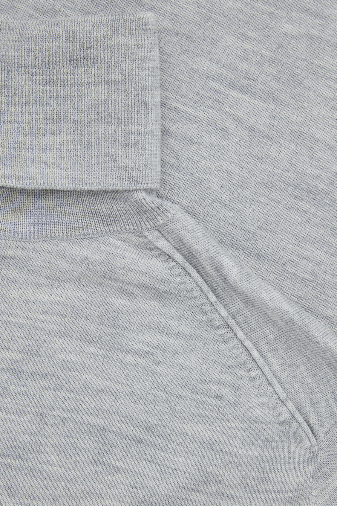 Side image of Cos roll-neck merino jumper in grey