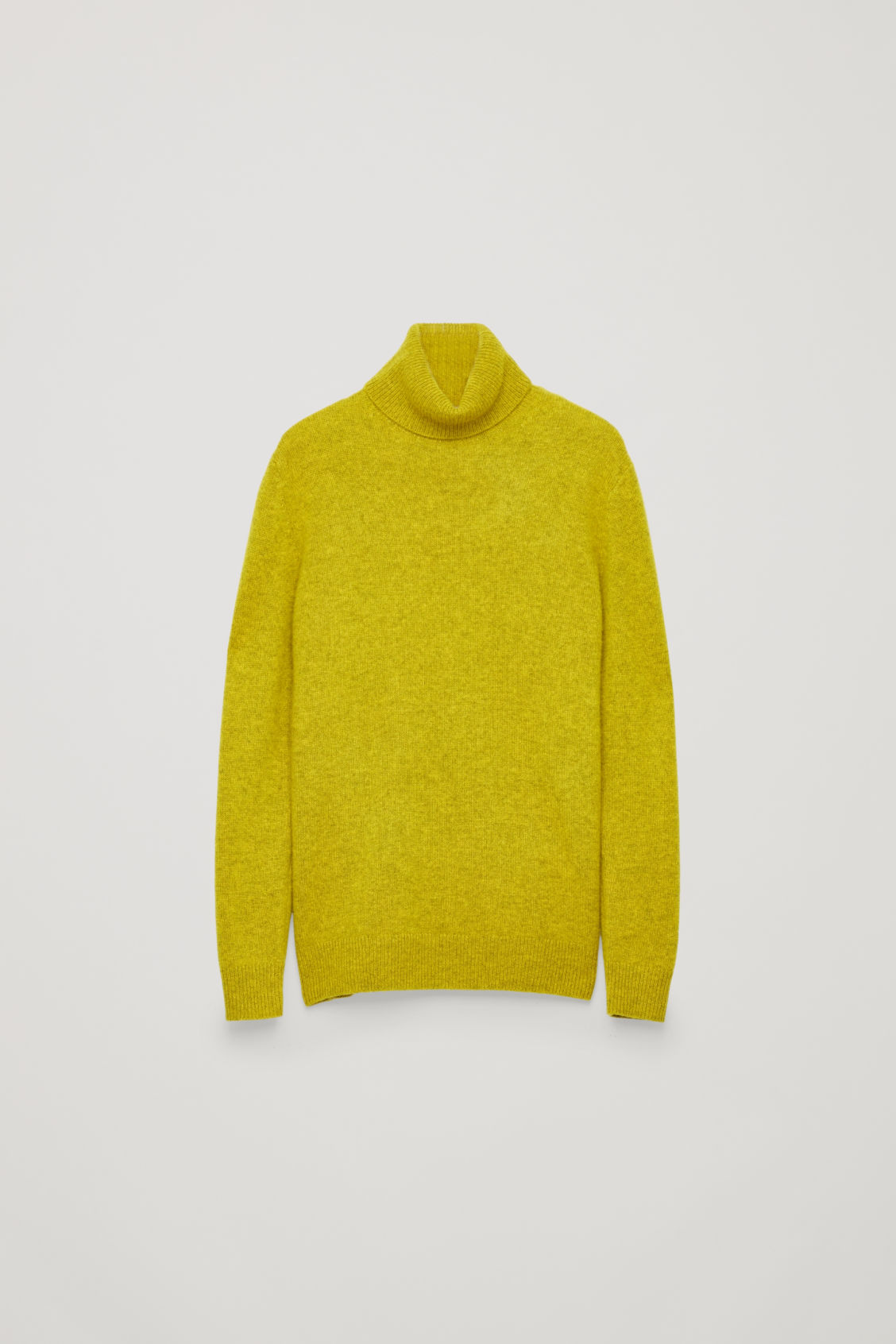 Side image of Cos high-neck cashmere jumper in yellow