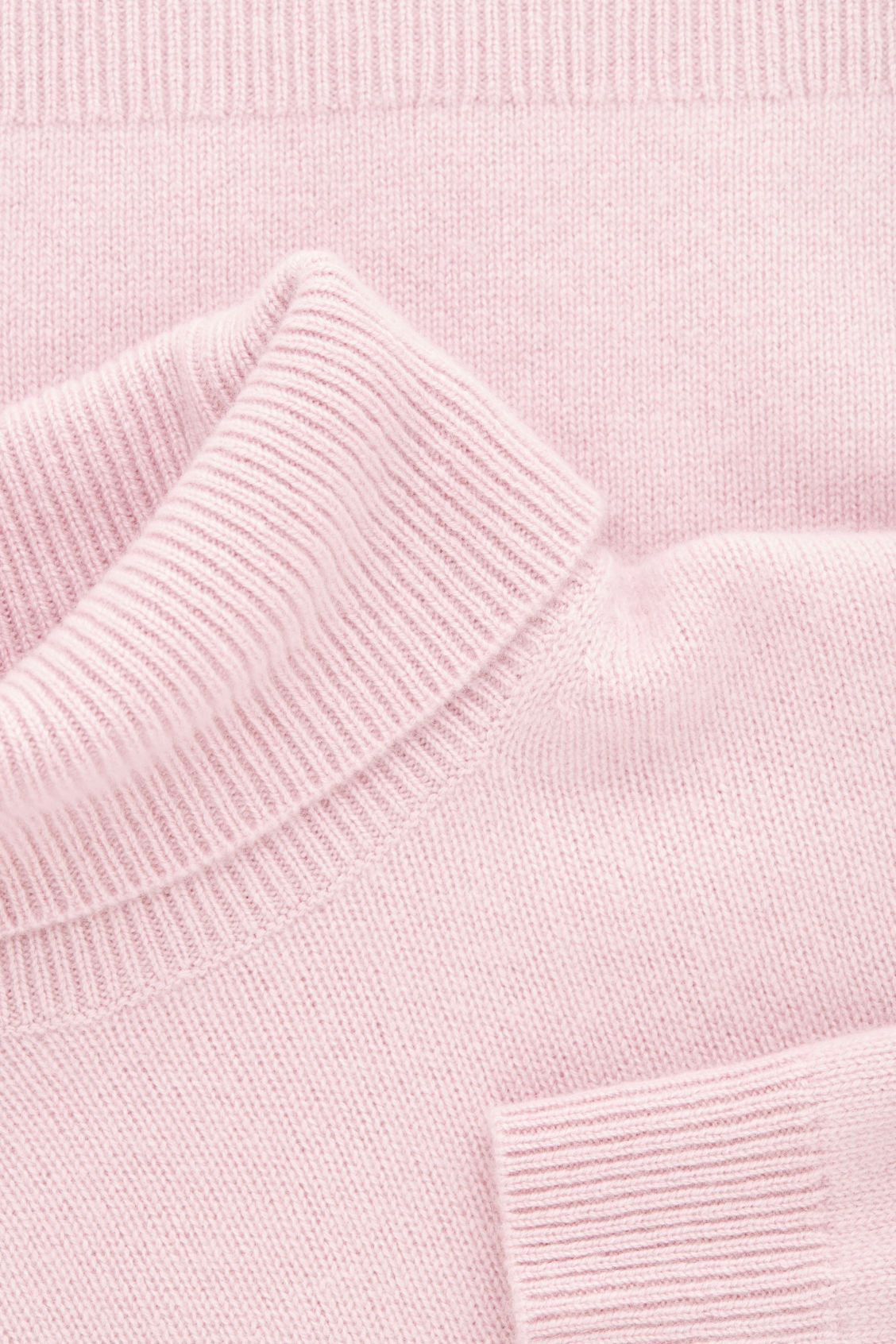 Side image of Cos high-neck cashmere jumper in pink