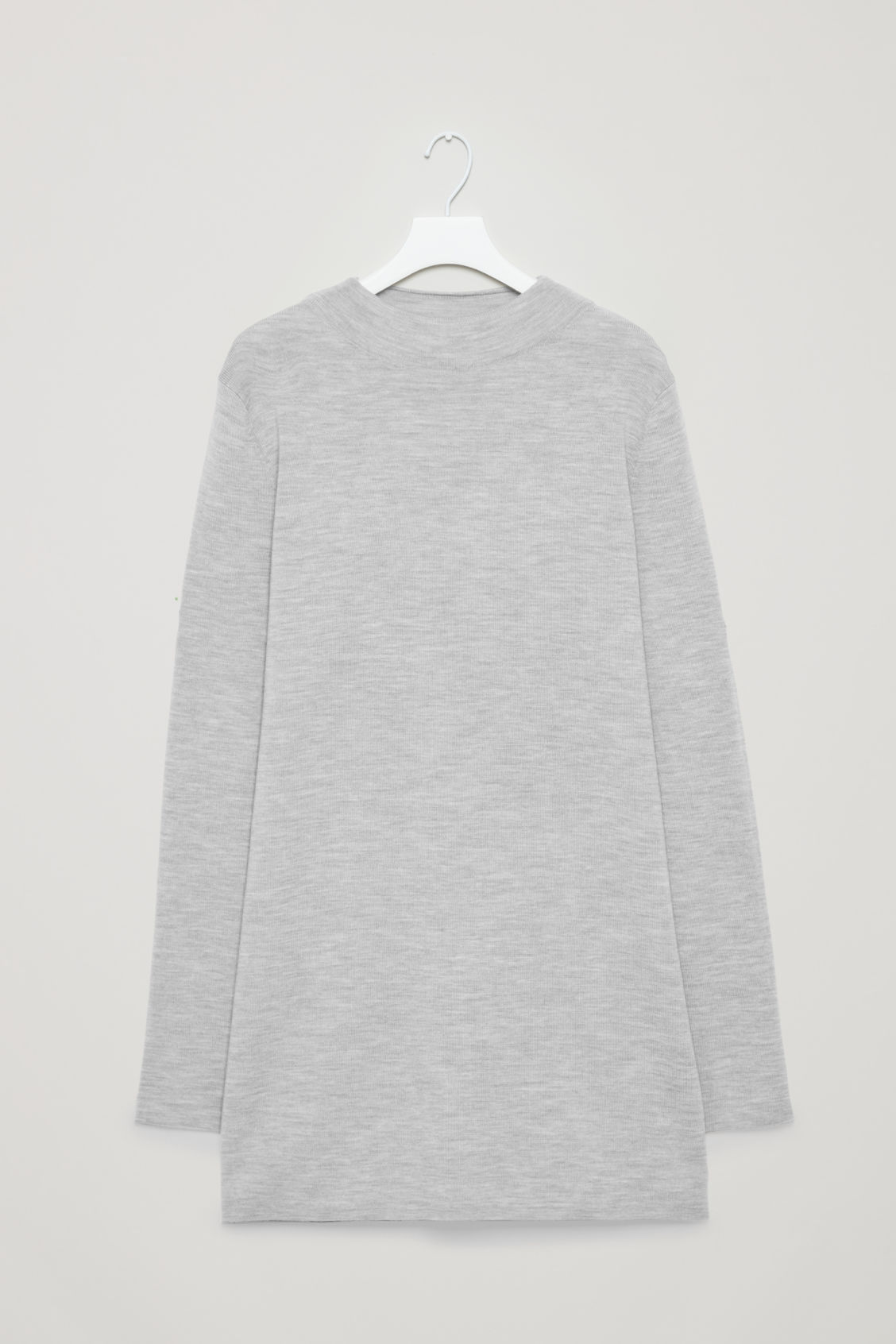 Front image of Cos high-neck merino jumper in grey