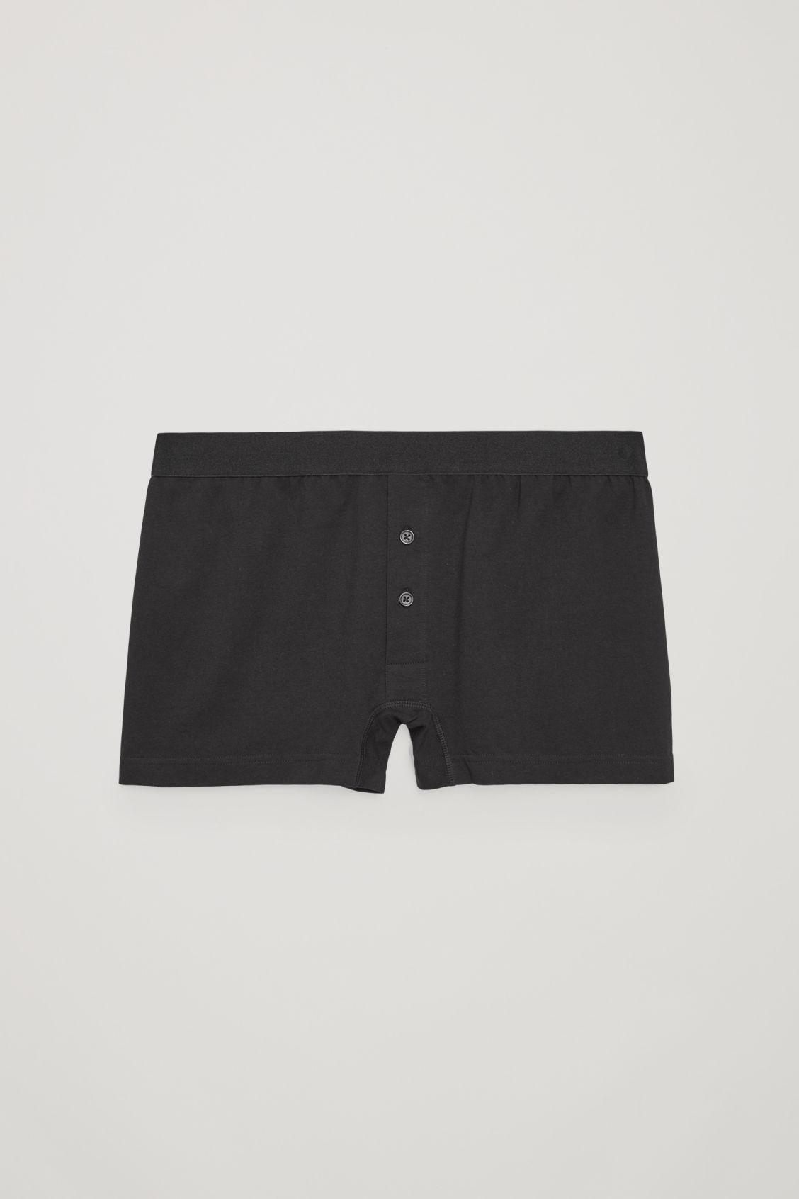 Cos Cotton-jersey Boxer Briefs In Black