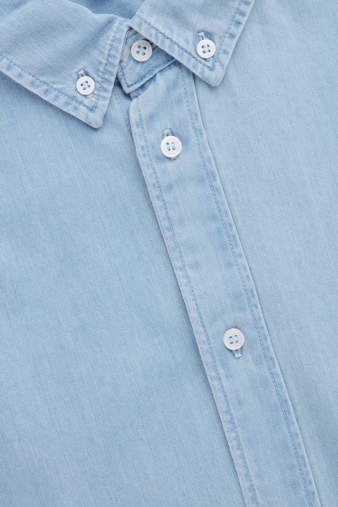 Side image of Cos denim shirt in turquoise
