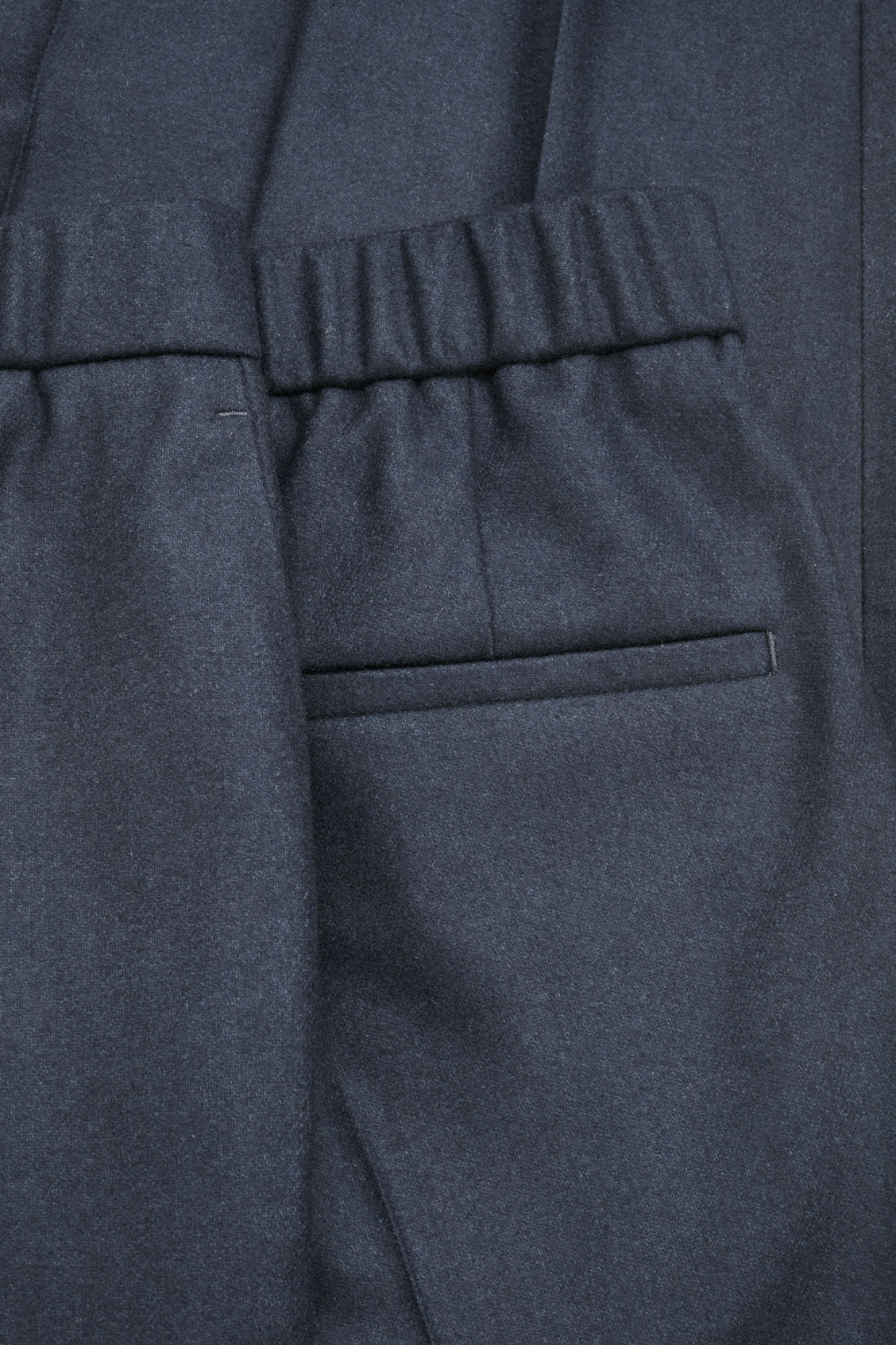 Side image of Cos slim drawstring trousers in blue