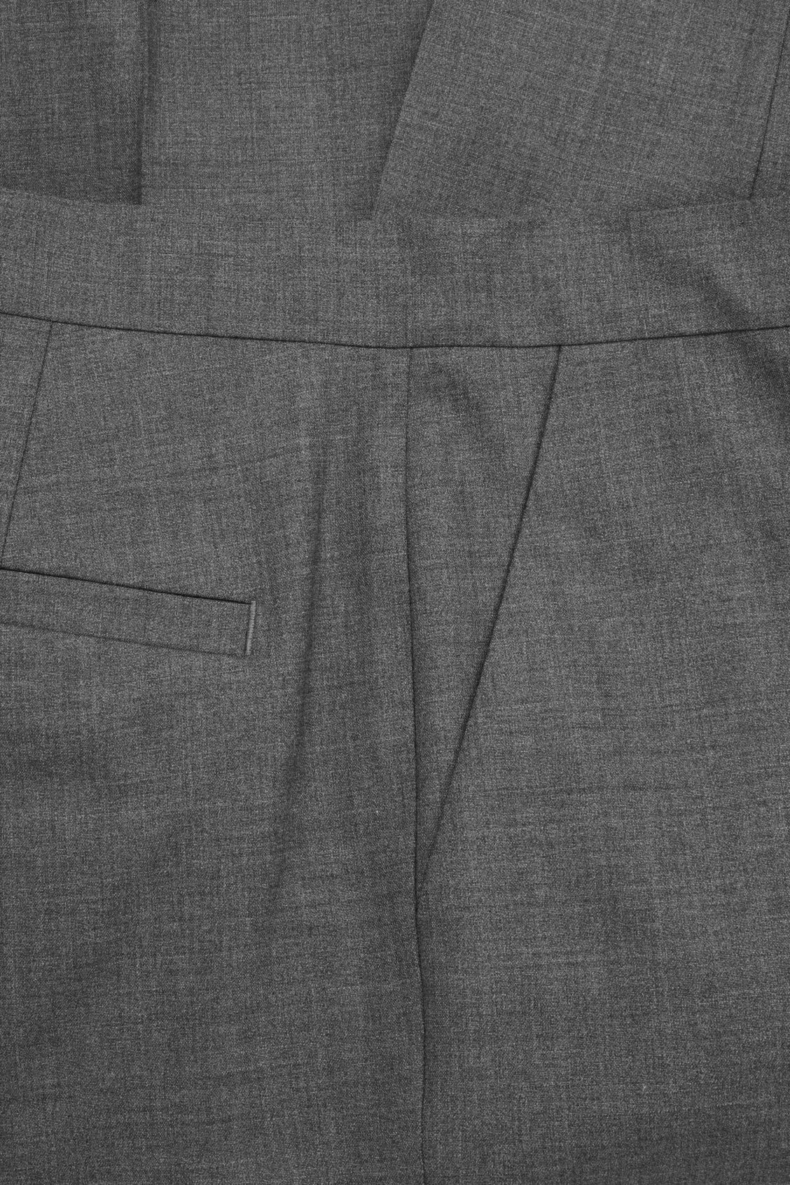 Side image of Cos tailored slim-fit trousers in grey