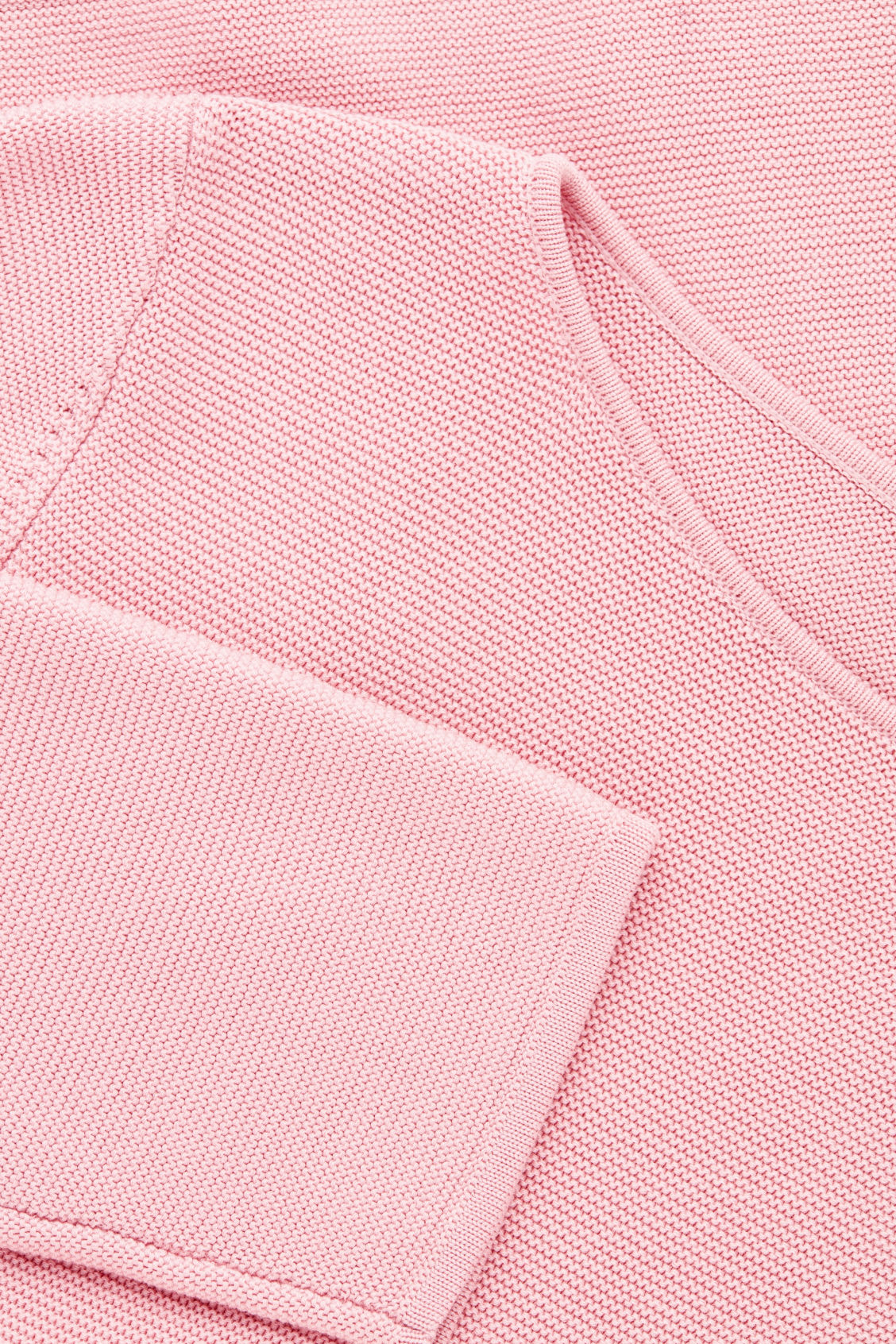 Side image of Cos a-line cotton knitted top in pink