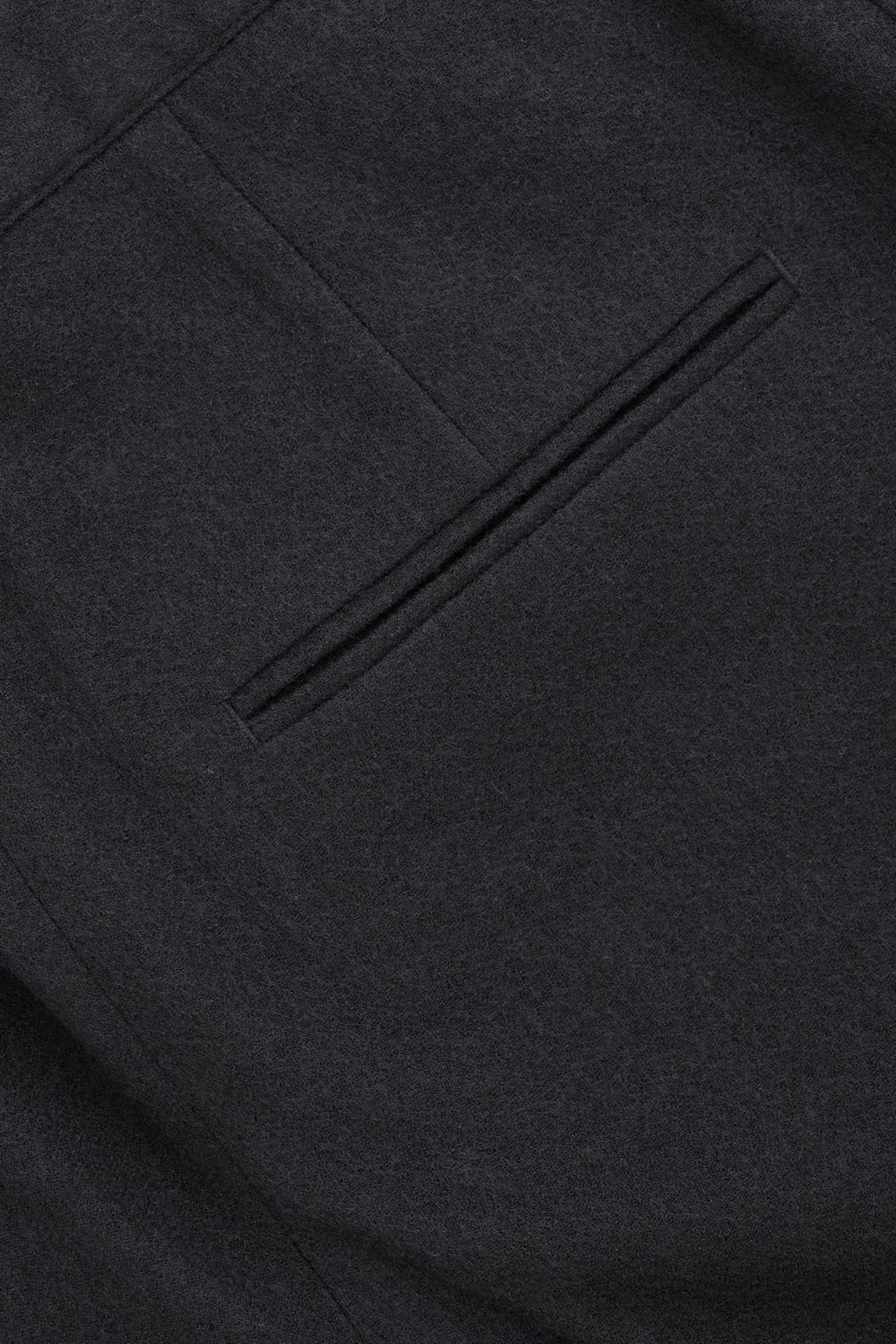 Side image of Cos relaxed crepe wool trousers in black