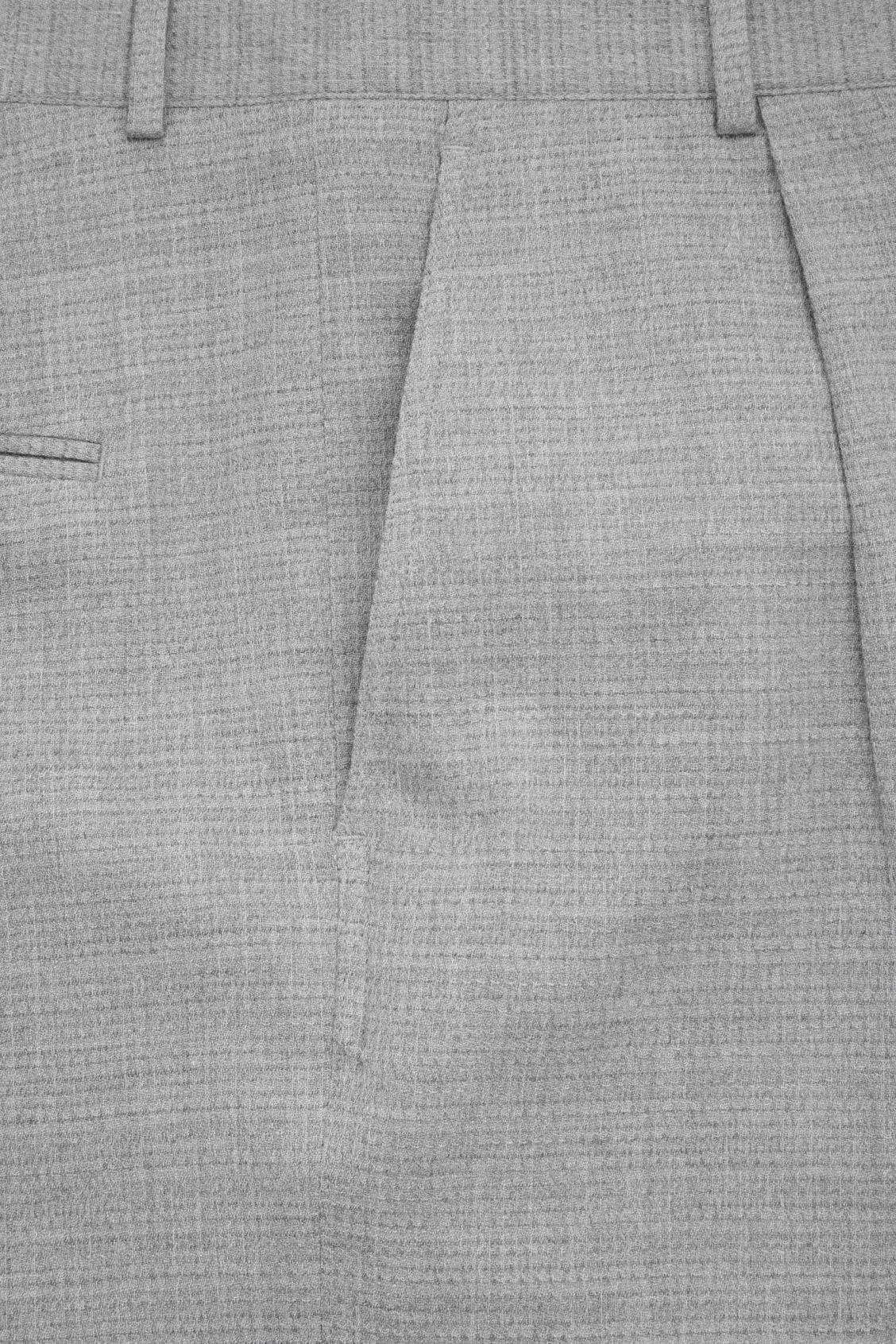 Side image of Cos relaxed crepe wool trousers in grey