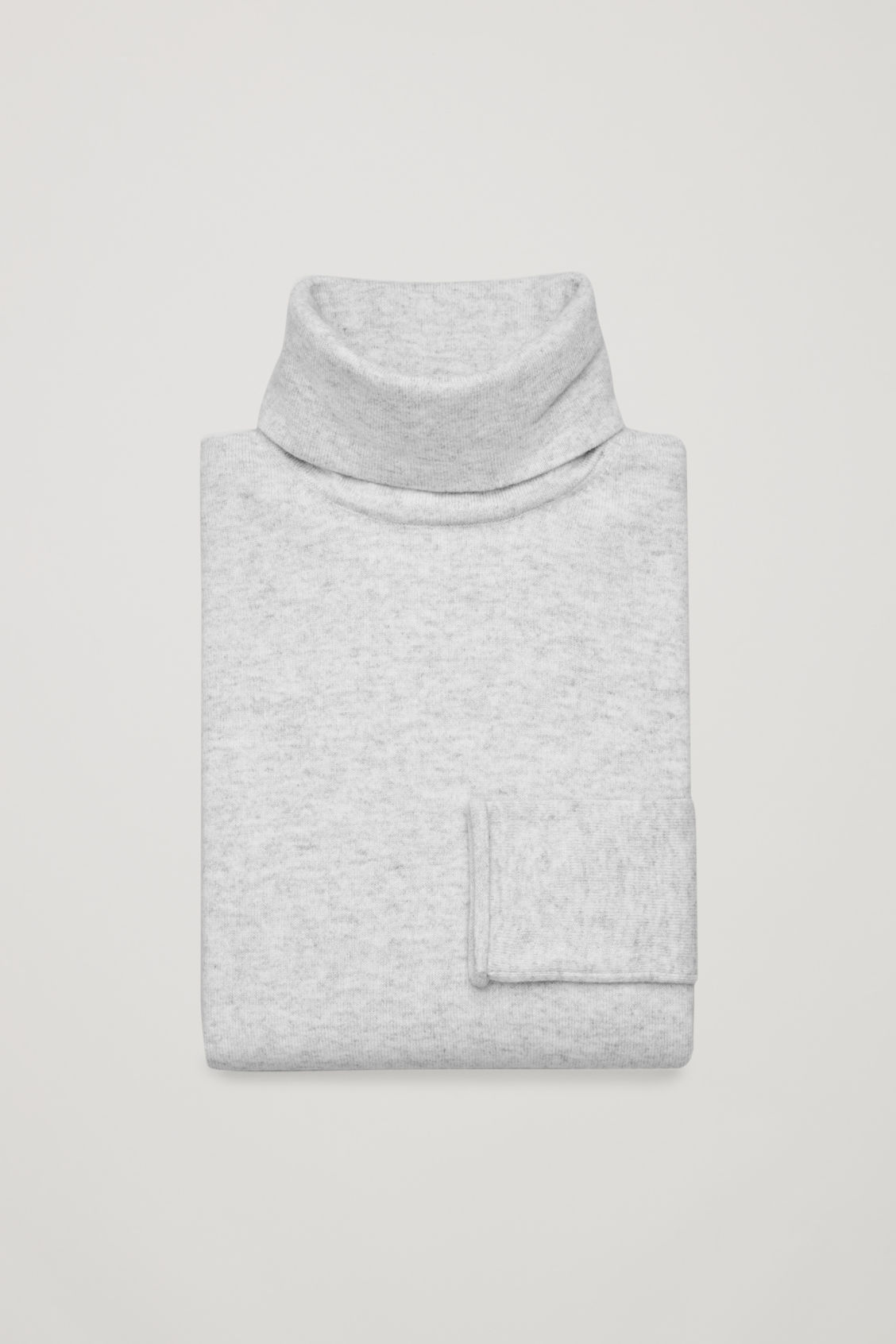 Side image of Cos roll-neck cashmere jumper in grey