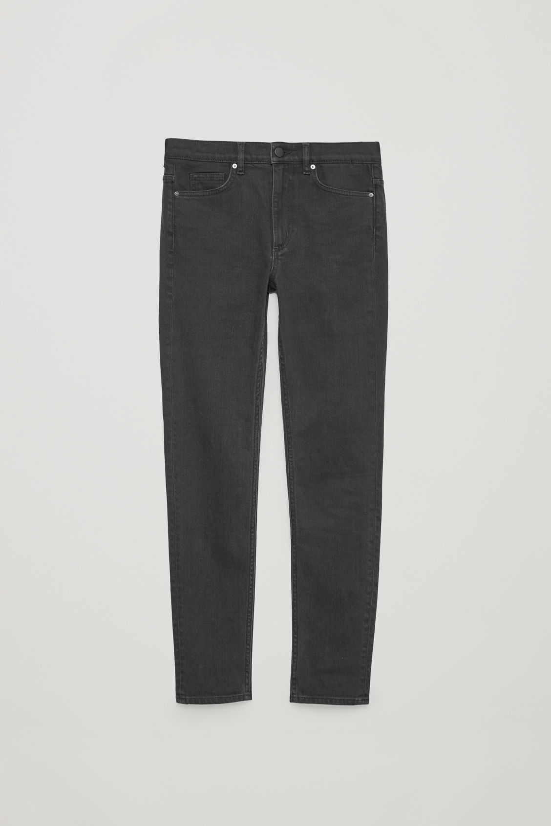 Front image of Cos skinny-fit cropped jeans in black