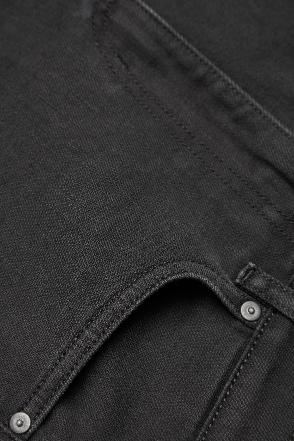 Side image of Cos skinny-fit cropped jeans in black