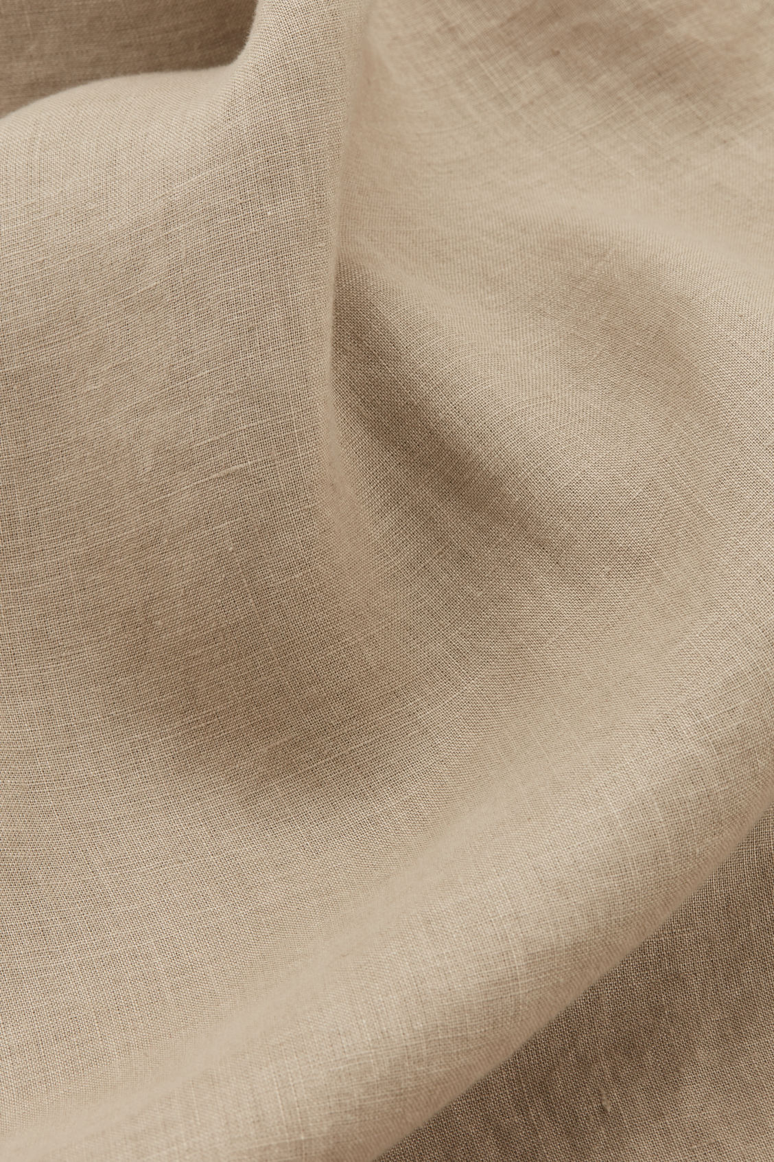 Side image of Cos oversized linen t-shirt in beige