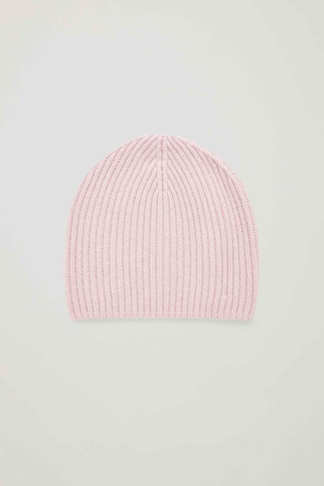 Front image of Cos ribbed cashmere hat in pink