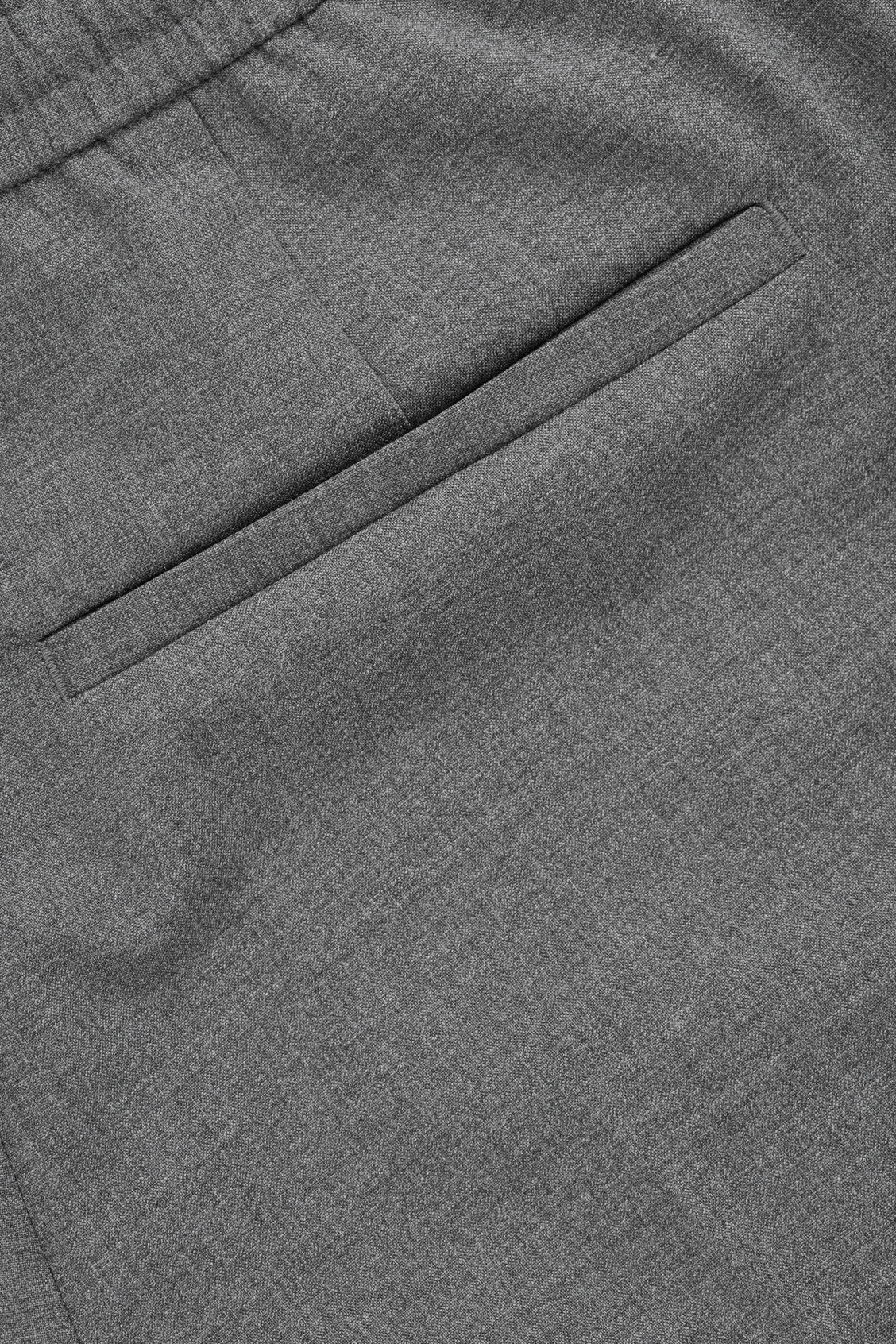 Side image of Cos elasticated slim-fit trousers in grey