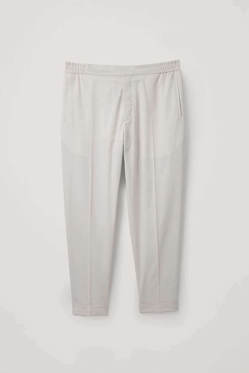 RELAXED TURN-UP TROUSERS