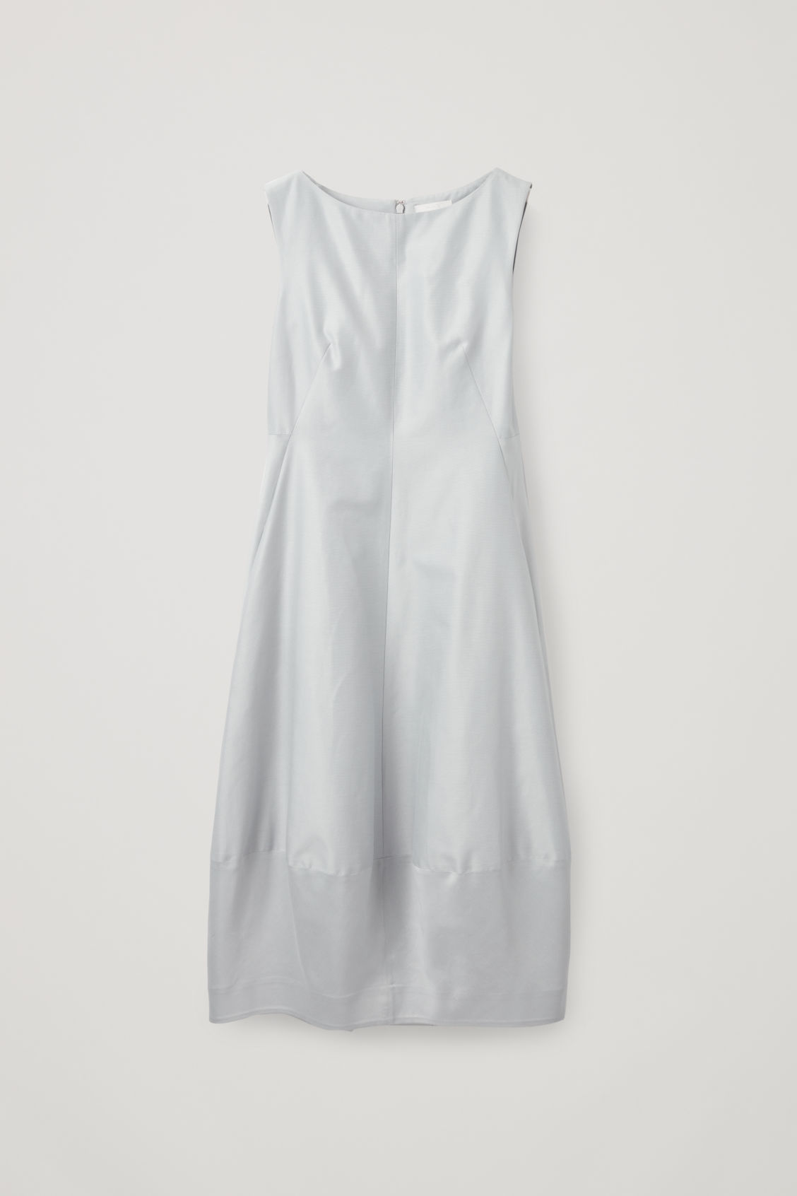 Front image of Cos cotton-silk cocoon dress in grey