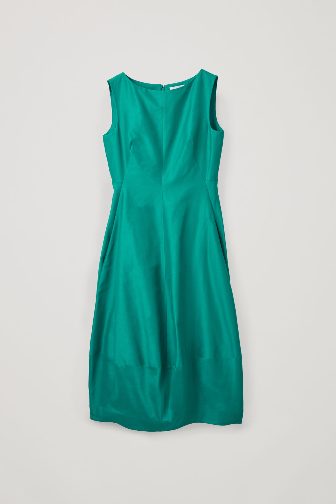 Front image of Cos cotton-silk cocoon dress in green