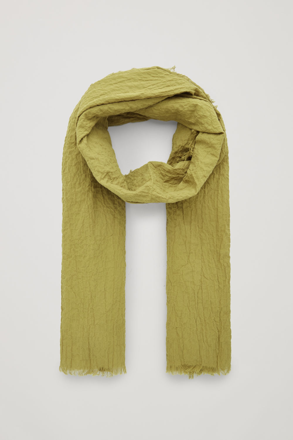 CRINKLED ORGANIC-COTTON SCARF