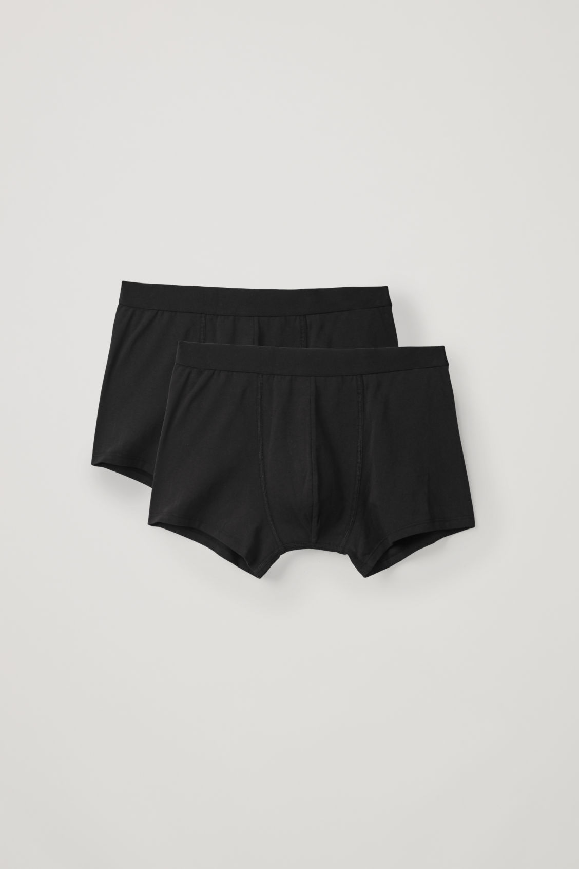 Front image of Cos jersey boxer briefs in black