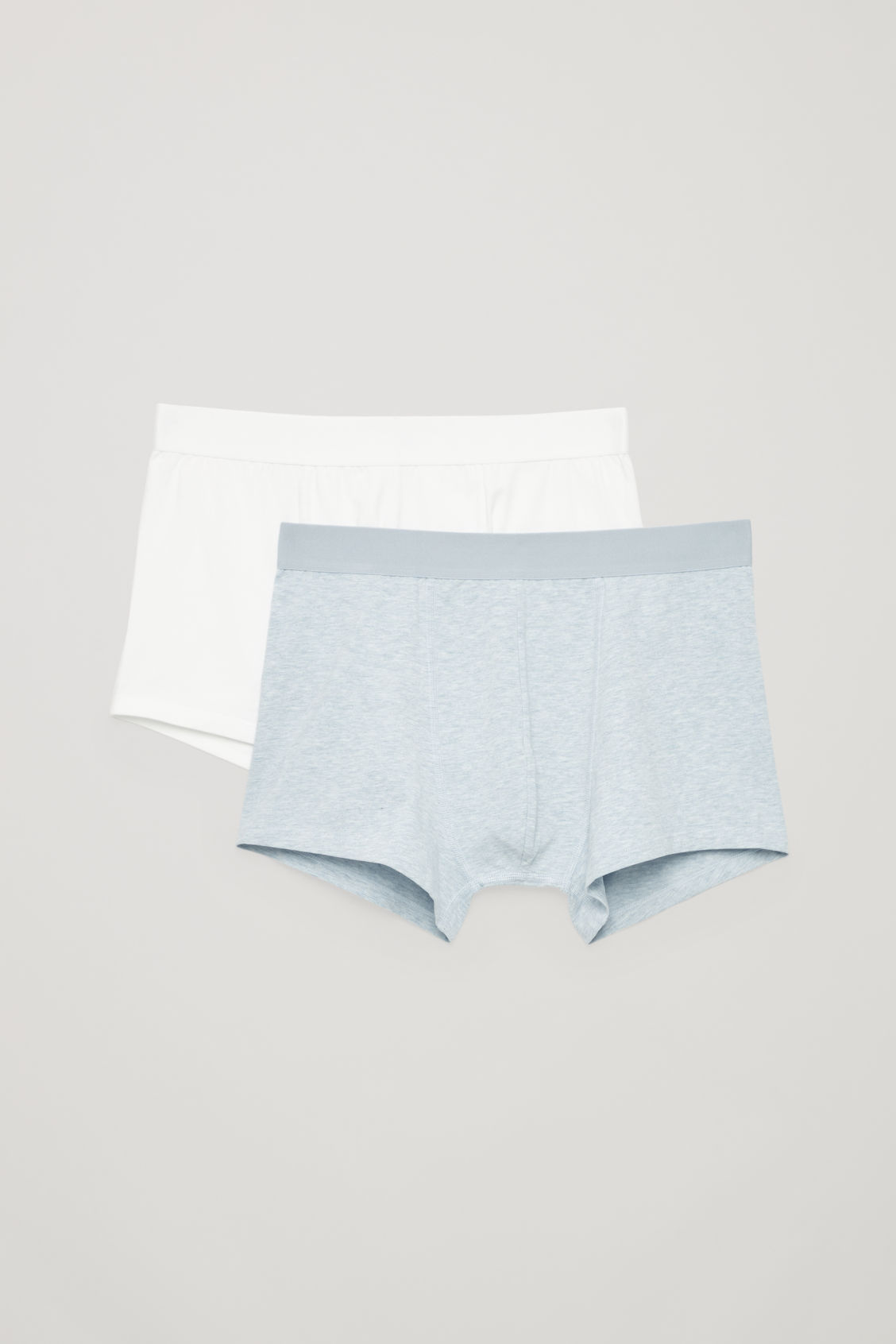 Front image of Cos jersey boxer briefs in white
