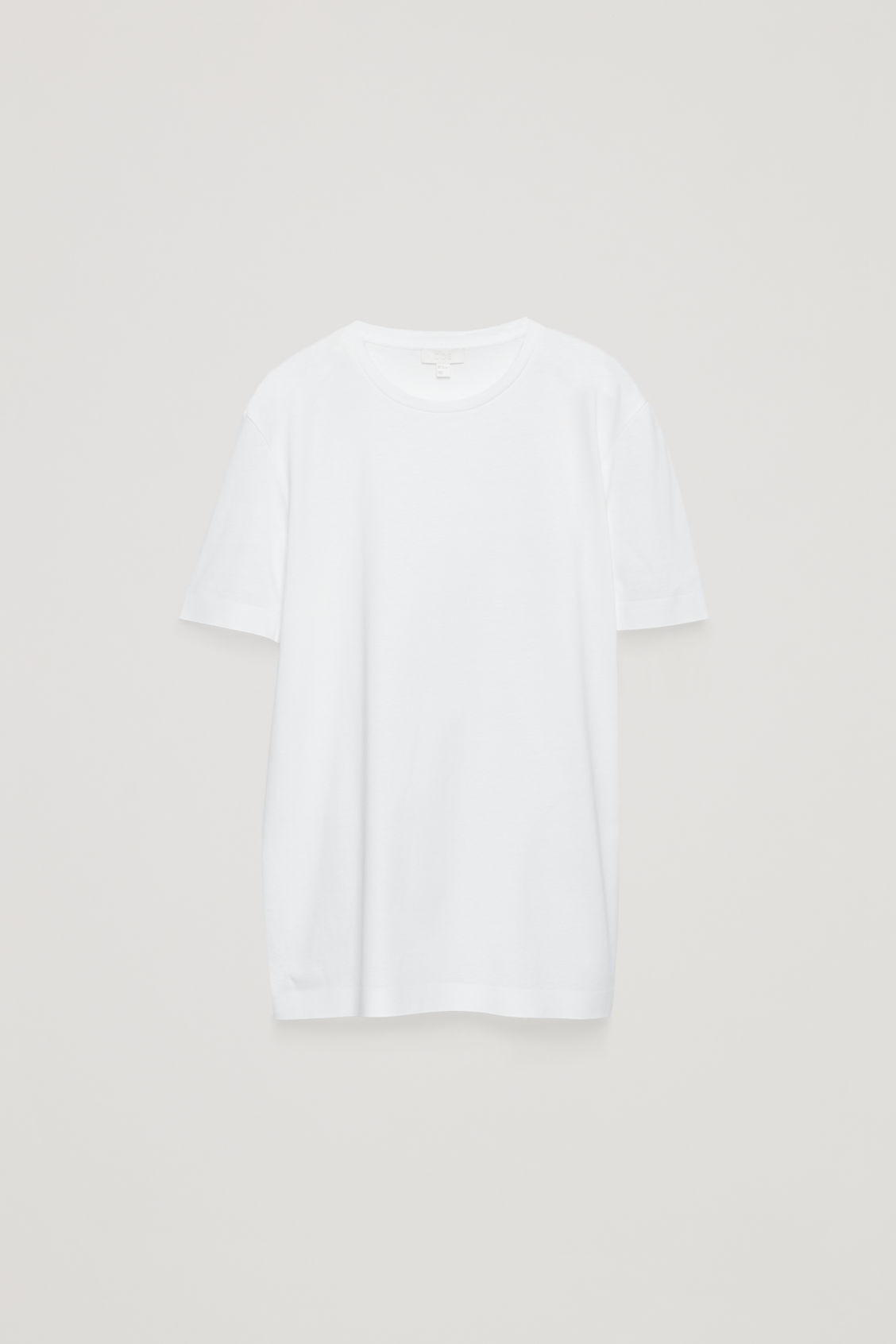 Side image of Cos bonded cotton t-shirt in white