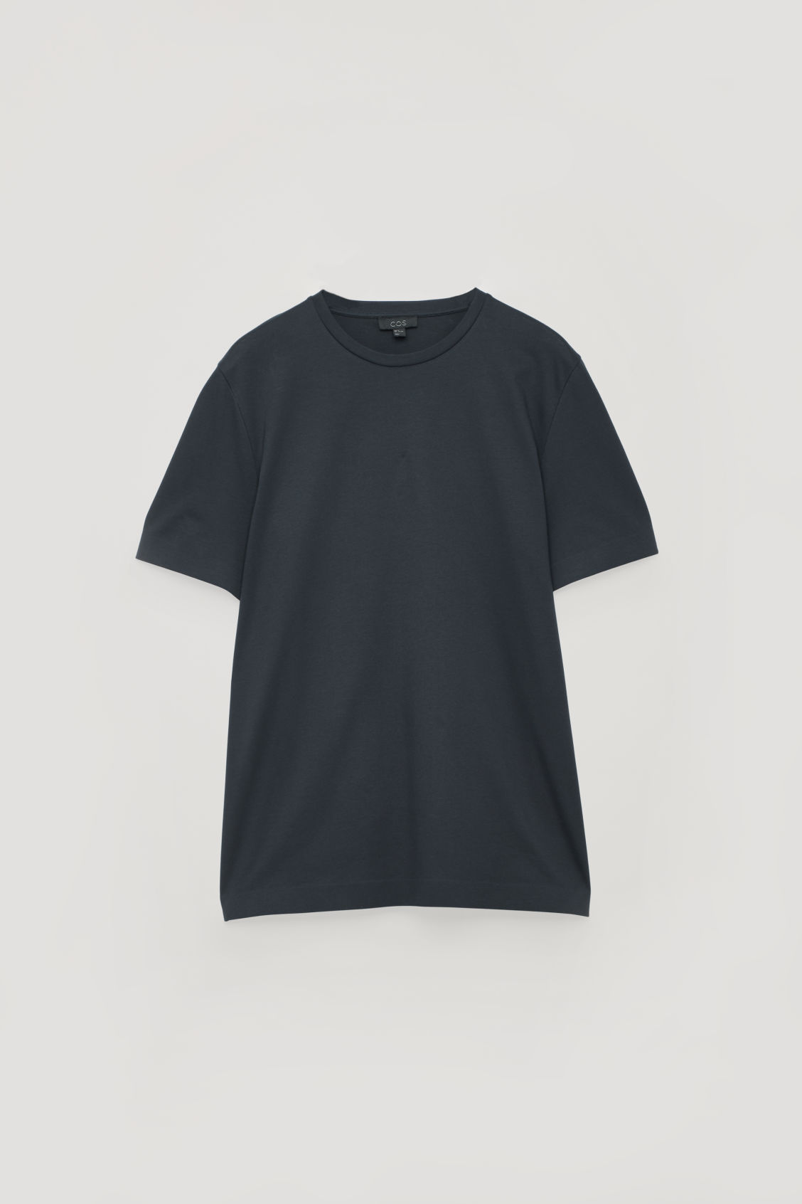 Front image of Cos bonded cotton t-shirt in blue