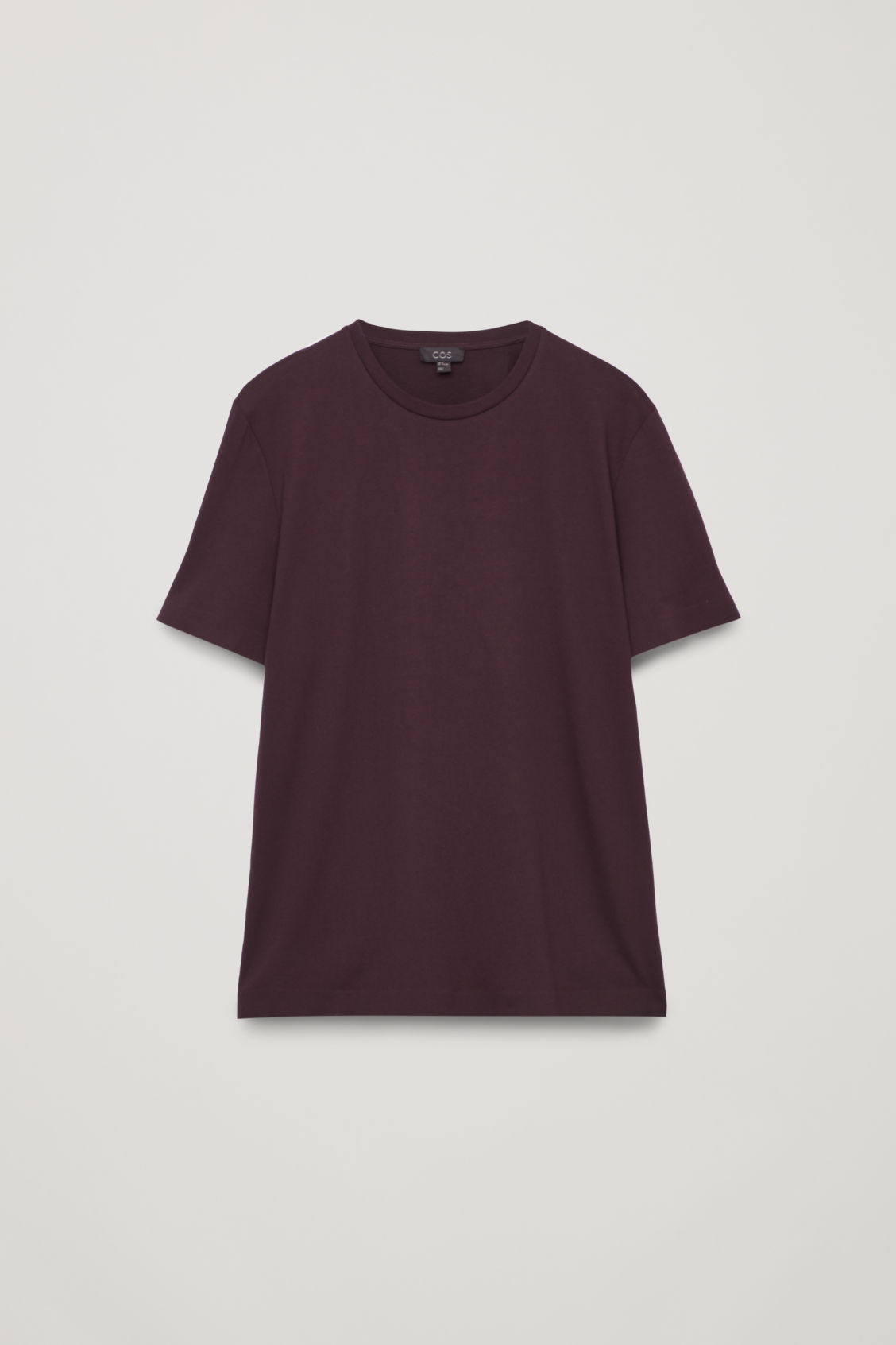 Front image of Cos bonded cotton t-shirt in red