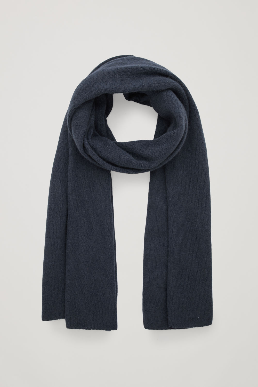 Front image of Cos cashmere scarf  in blue
