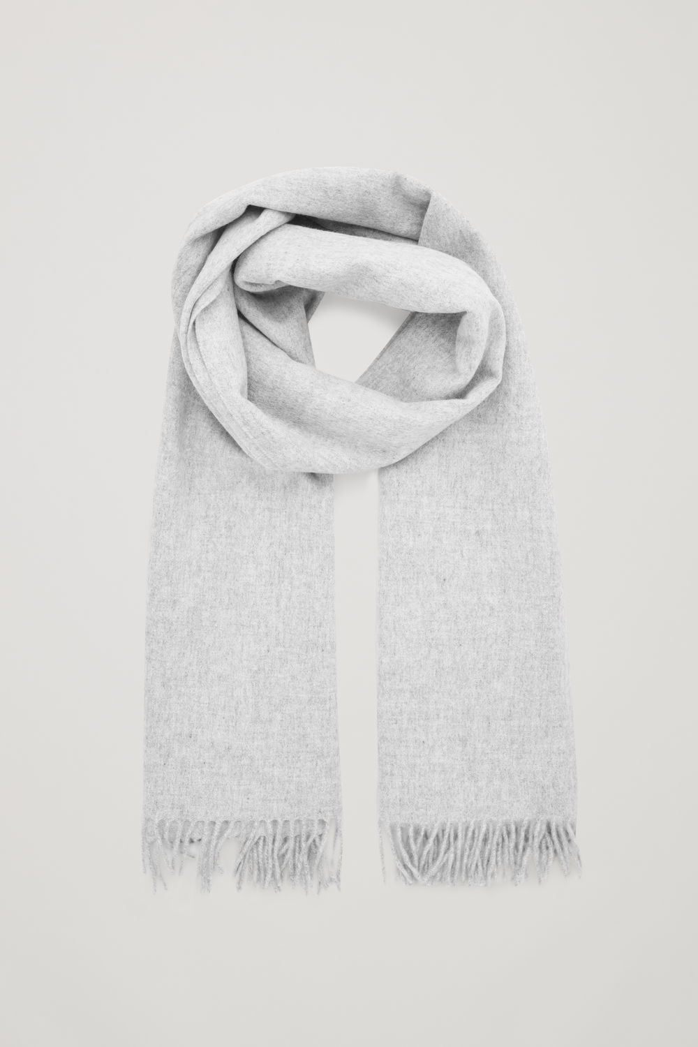 Front image of Cos wool-cashmere scarf  in grey