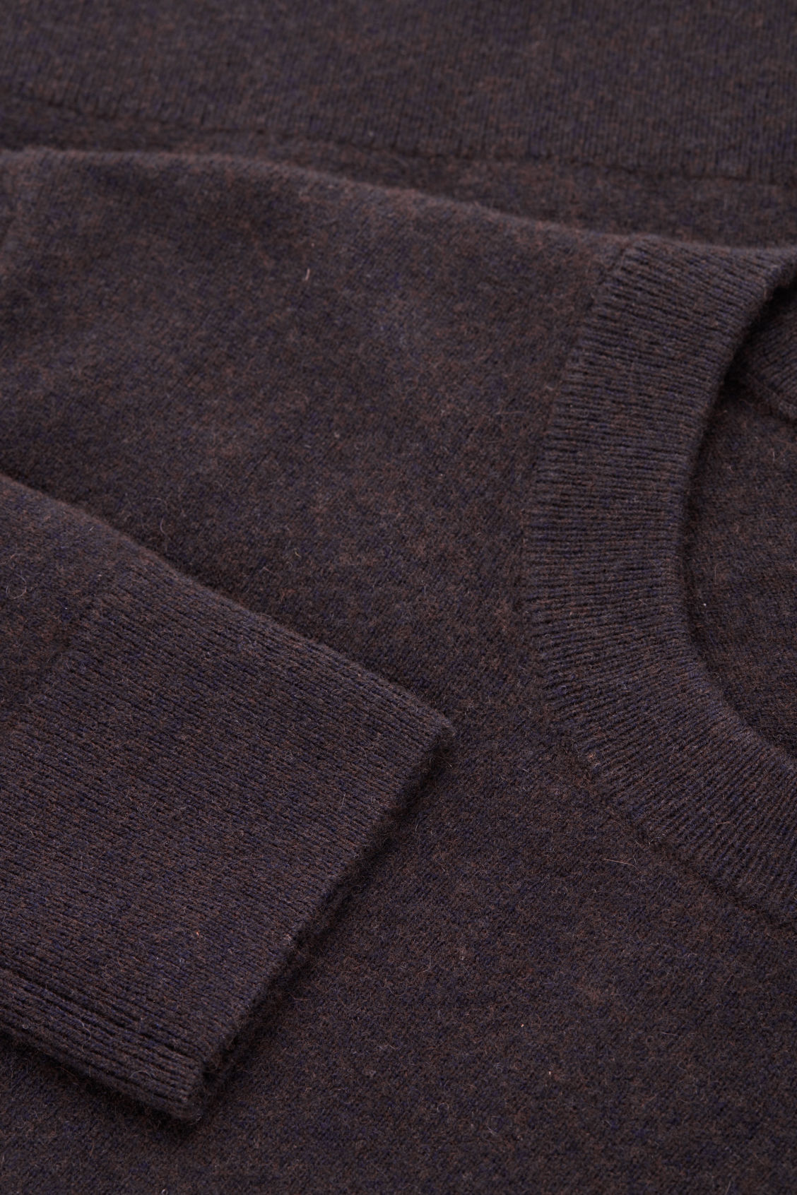 Side image of Cos wool-yak crew-neck jumper in brown