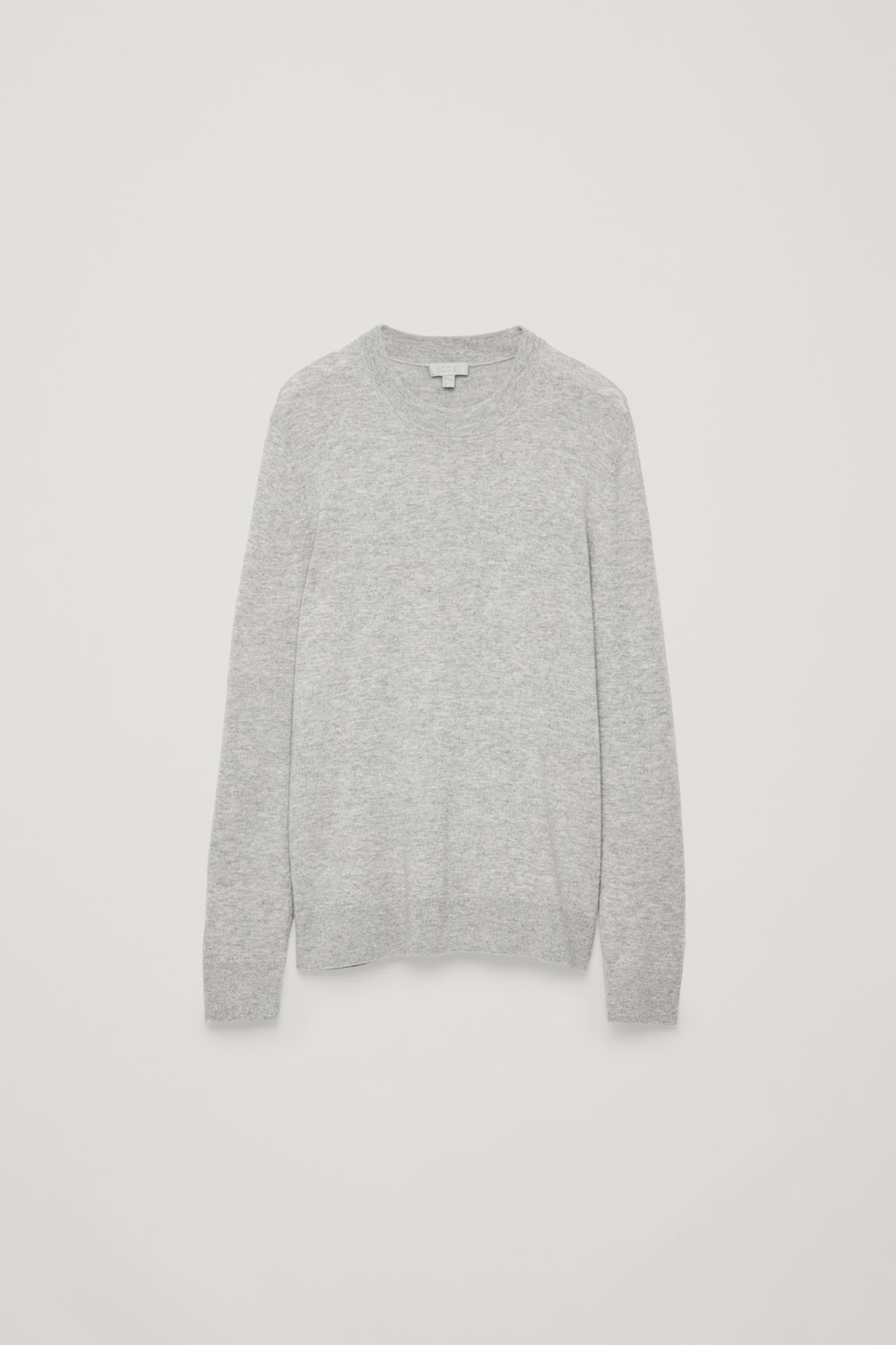 Front image of Cos wool-yak crew-neck jumper in grey