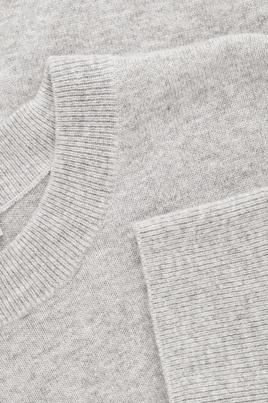 Side image of Cos wool-yak crew-neck jumper in grey