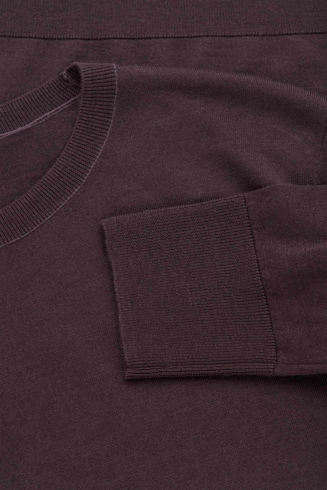 Side image of Cos round-neck merino jumper in purple