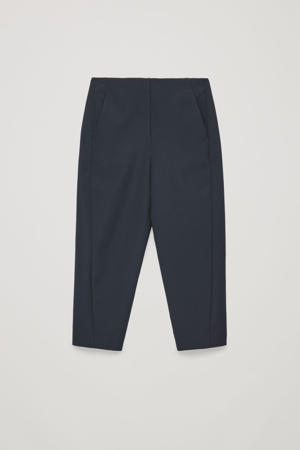Front image of Cos twisted-seam trousers in blue