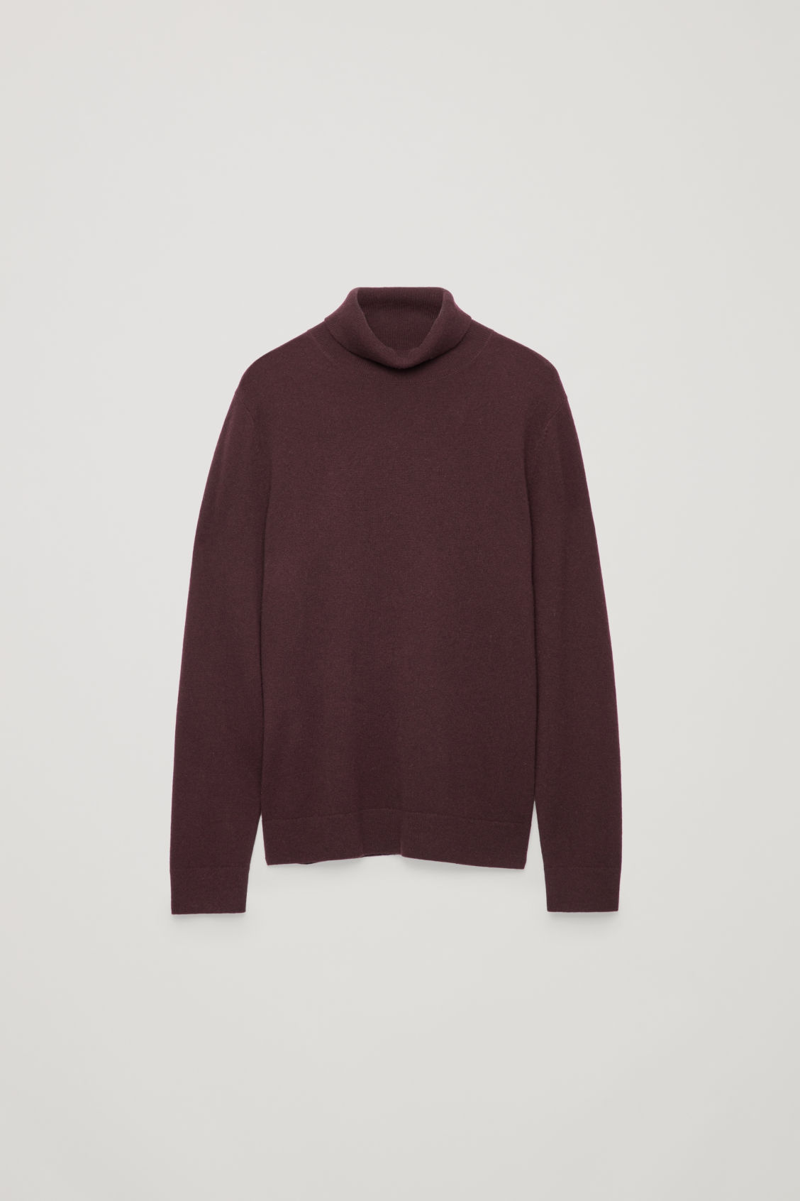 Front image of Cos wool and yak roll-neck jumper  in red