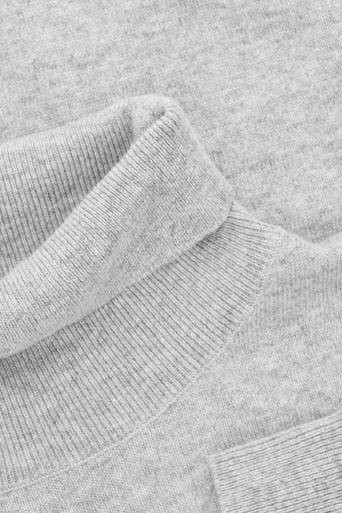 Side image of Cos wool and yak roll-neck jumper  in grey