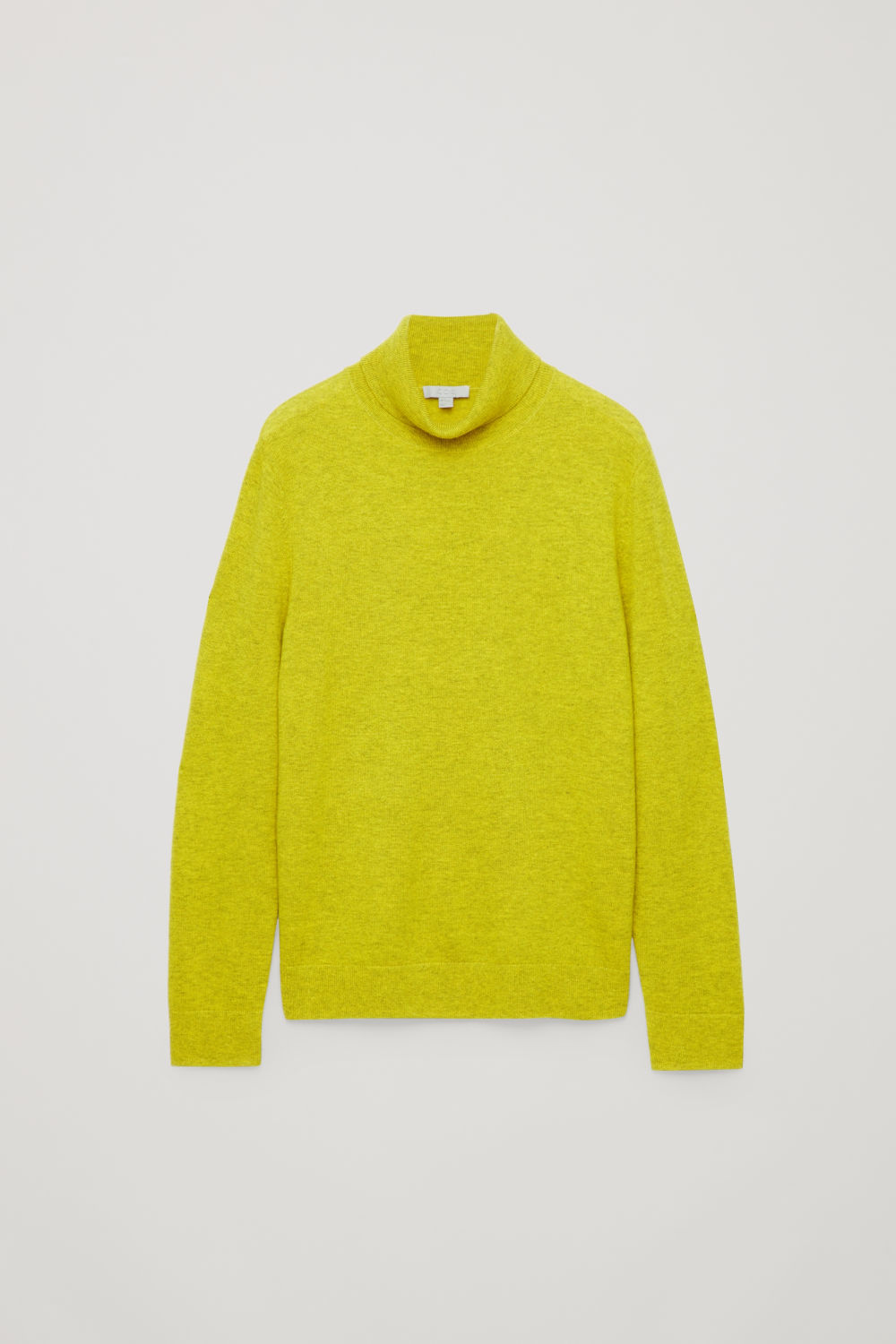Front image of Cos wool and yak roll-neck jumper  in yellow