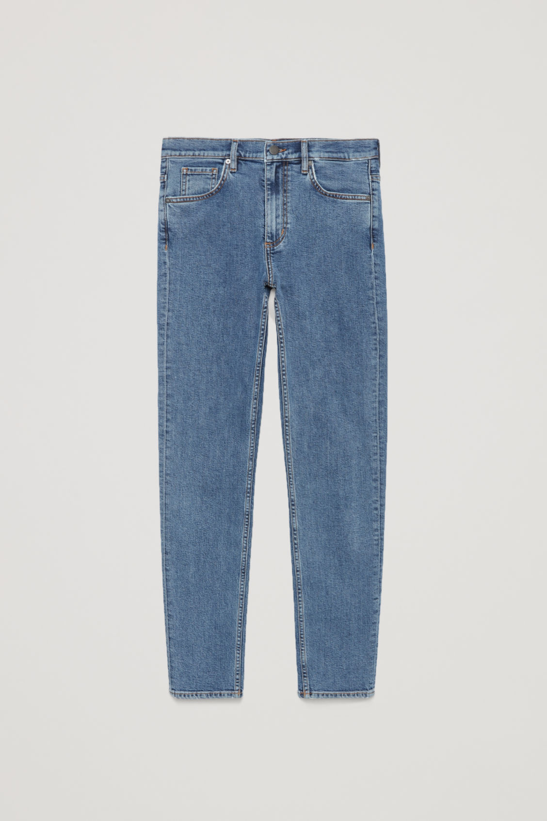 Front image of Cos skinny-fit cropped jeans in blue