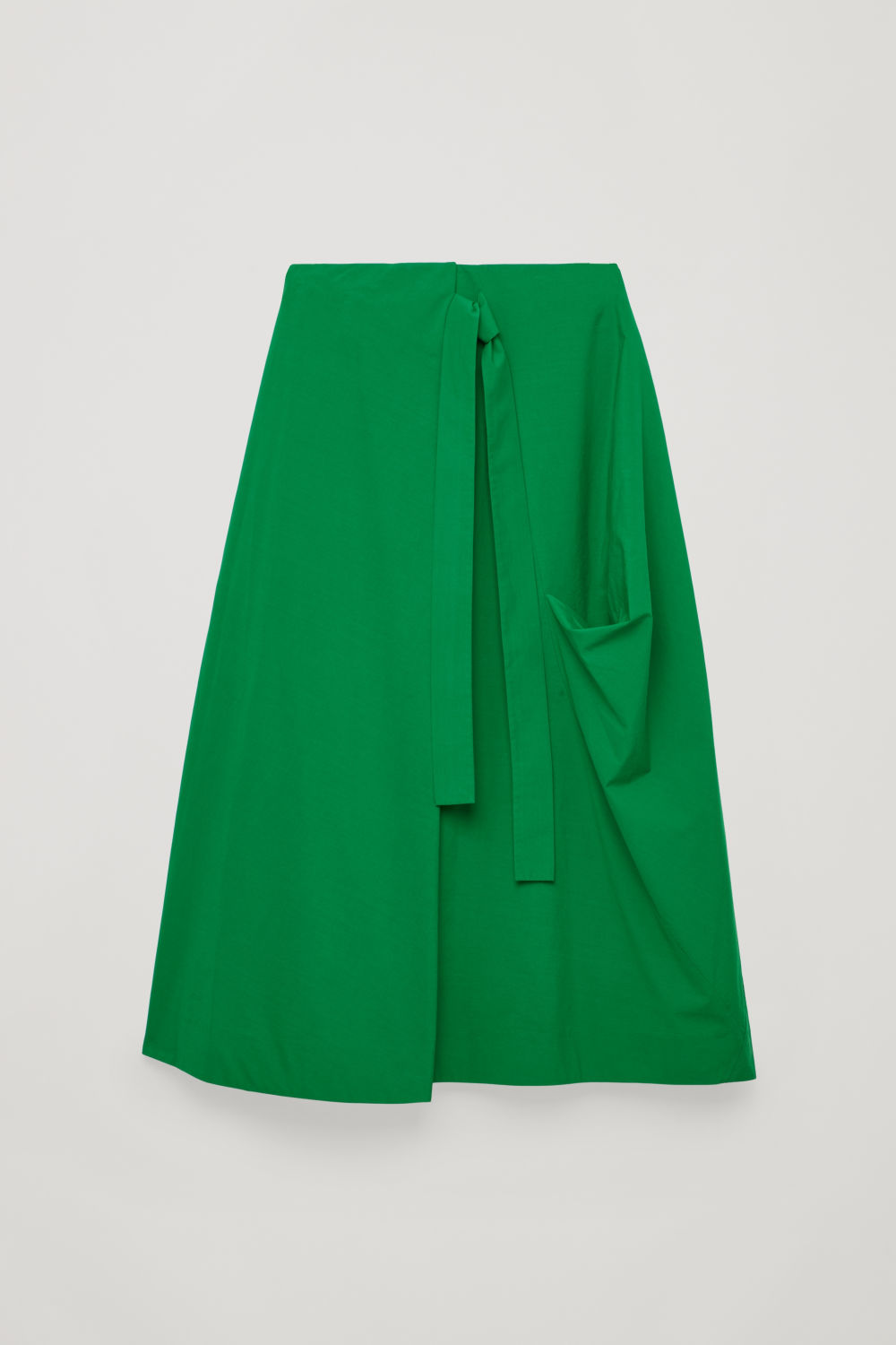 A-LINE WRAP-OVER SKIRT