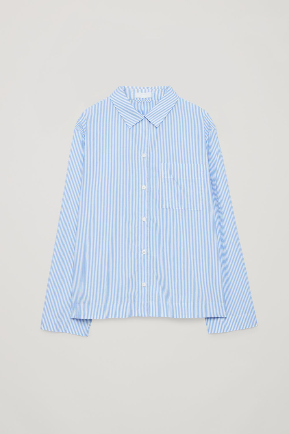 STRIPED COTTON PYJAMA SHIRT