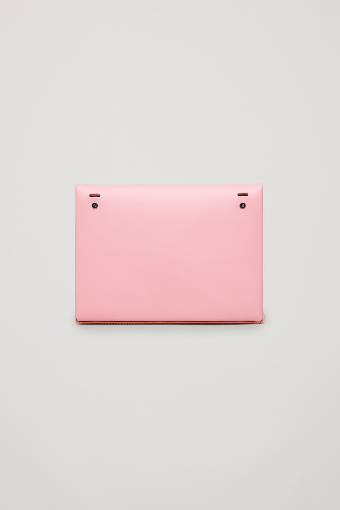 Side image of Cos structured leather shoulder bag in pink