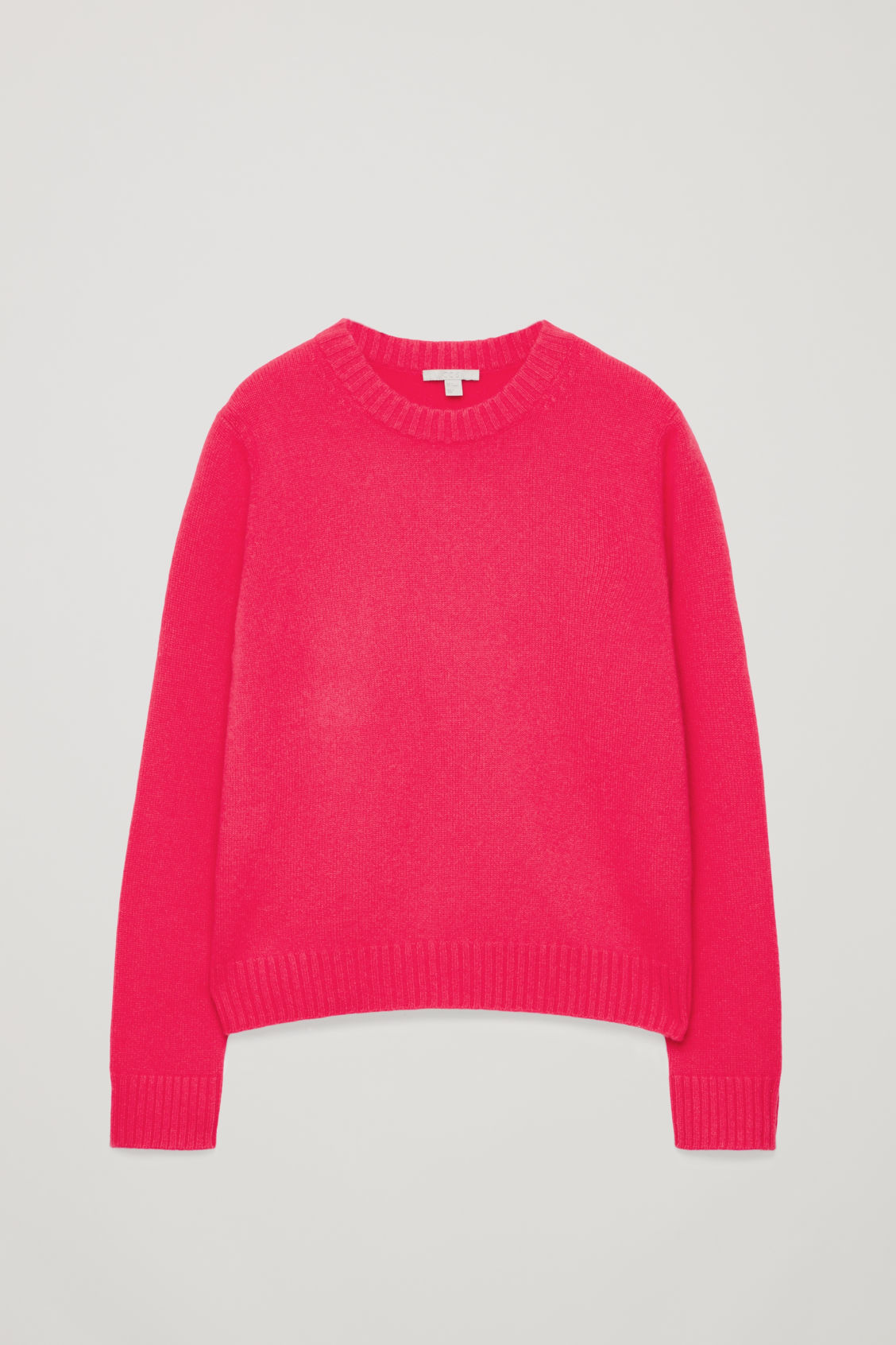Front image of Cos round-neck cashmere jumper  in pink