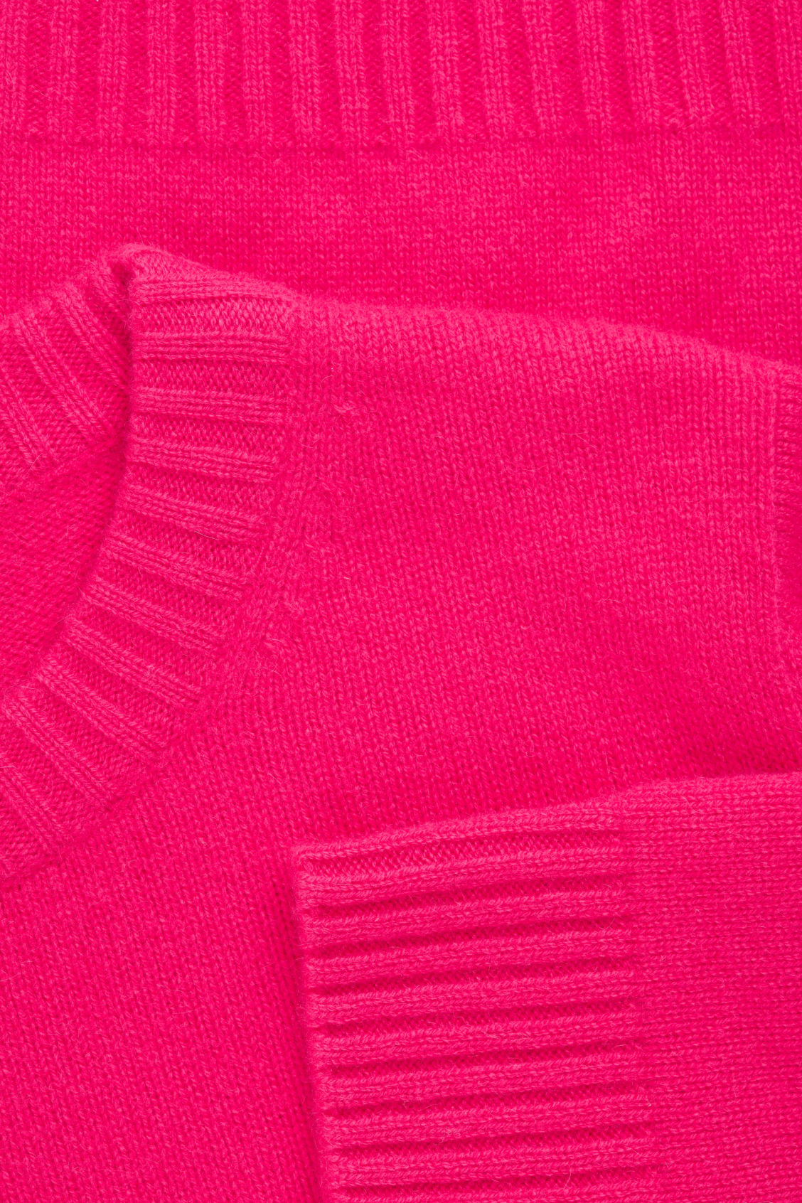 Side image of Cos round-neck cashmere jumper  in pink