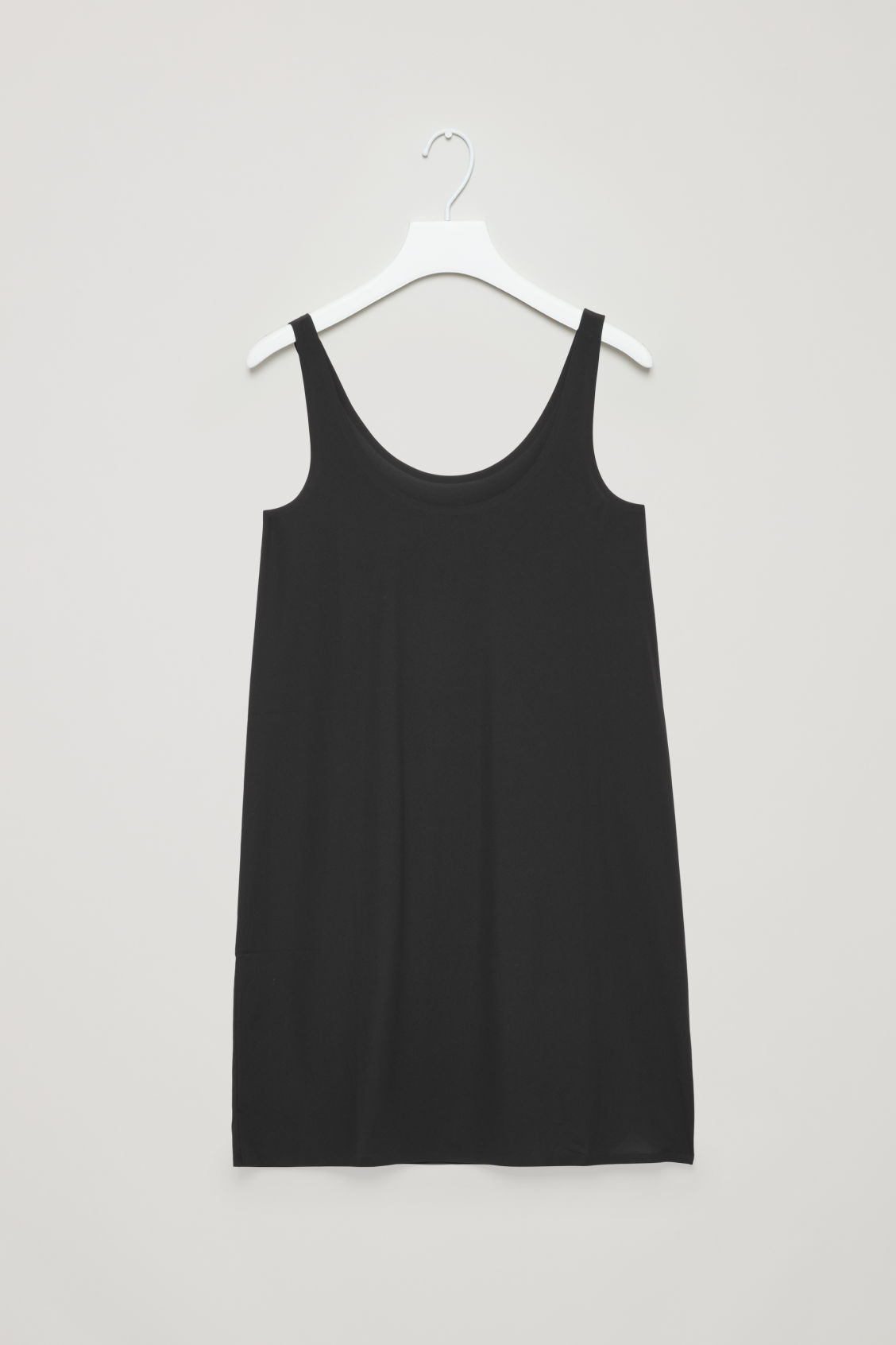 Front image of Cos seamless slip dress  in black
