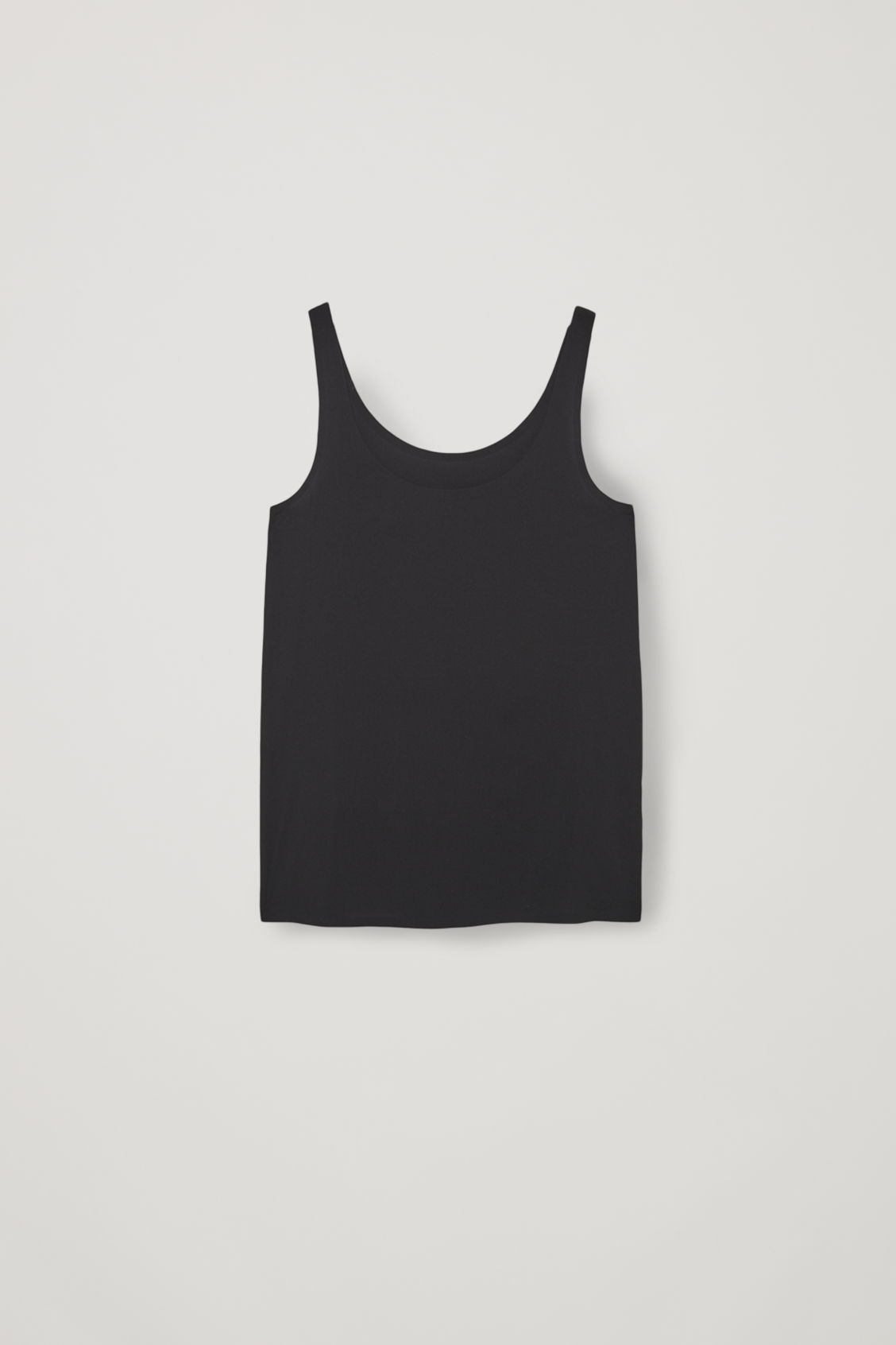Front image of Cos seamless vest top  in black